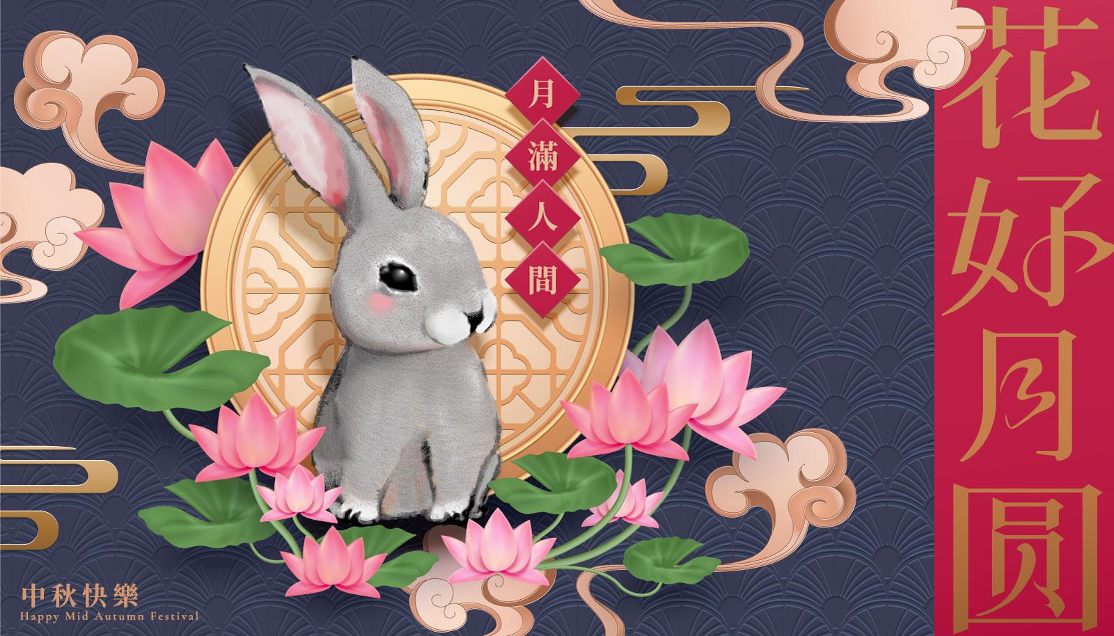 38款中国风中秋节主视觉海报插画AI广告设计素材源文件 Mid Autumn Festival Vector Pattern插图(10)