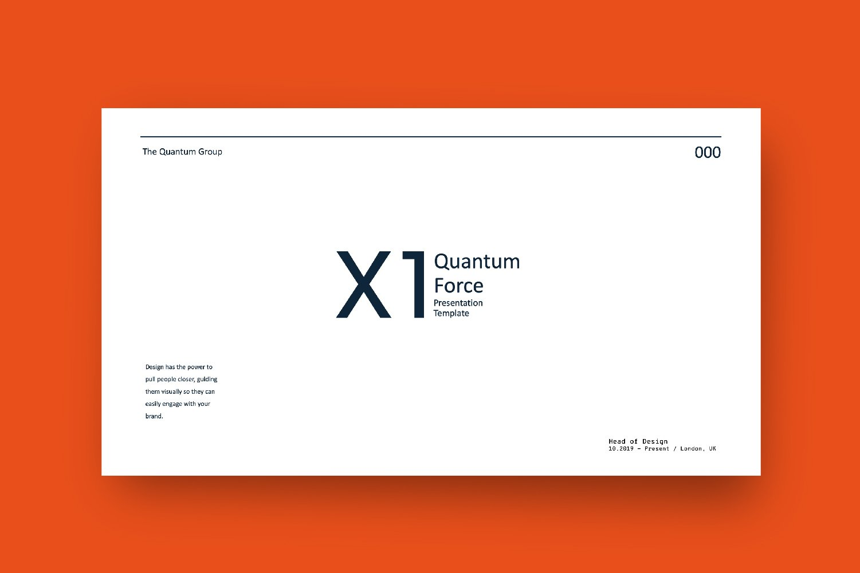 时尚创意品牌VI指南手册设计演示文稿模板 X1 – Brand Guidline Powerpoint插图(1)