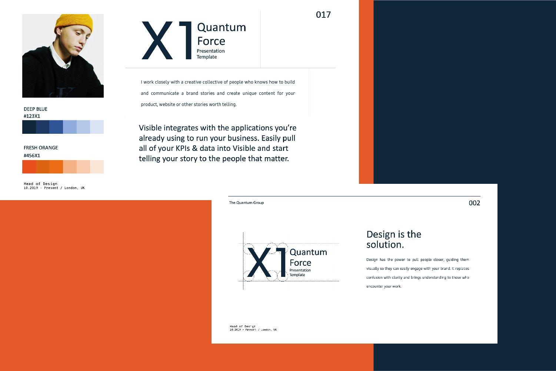 时尚创意品牌VI指南手册设计演示文稿模板 X1 – Brand Guidline Powerpoint插图(3)