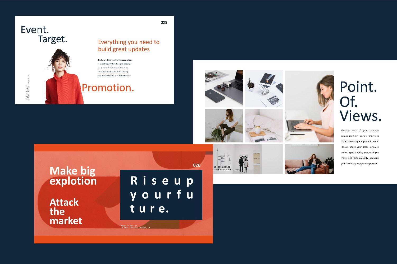 时尚创意品牌VI指南手册设计演示文稿模板 X1 – Brand Guidline Powerpoint插图(4)