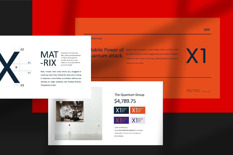 时尚创意品牌VI指南手册设计演示文稿模板 X1 – Brand Guidline Powerpoint插图(5)
