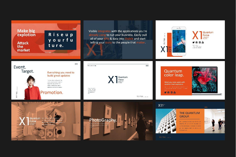 时尚创意品牌VI指南手册设计演示文稿模板 X1 – Brand Guidline Powerpoint插图(10)