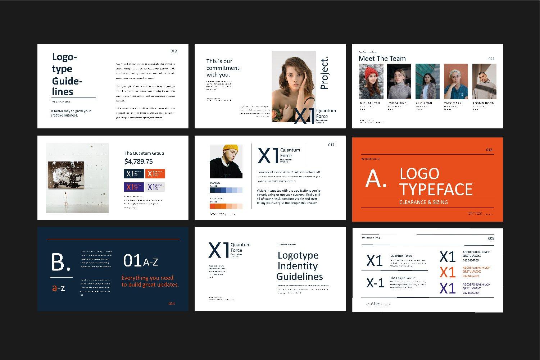 时尚创意品牌VI指南手册设计演示文稿模板 X1 – Brand Guidline Powerpoint插图(11)