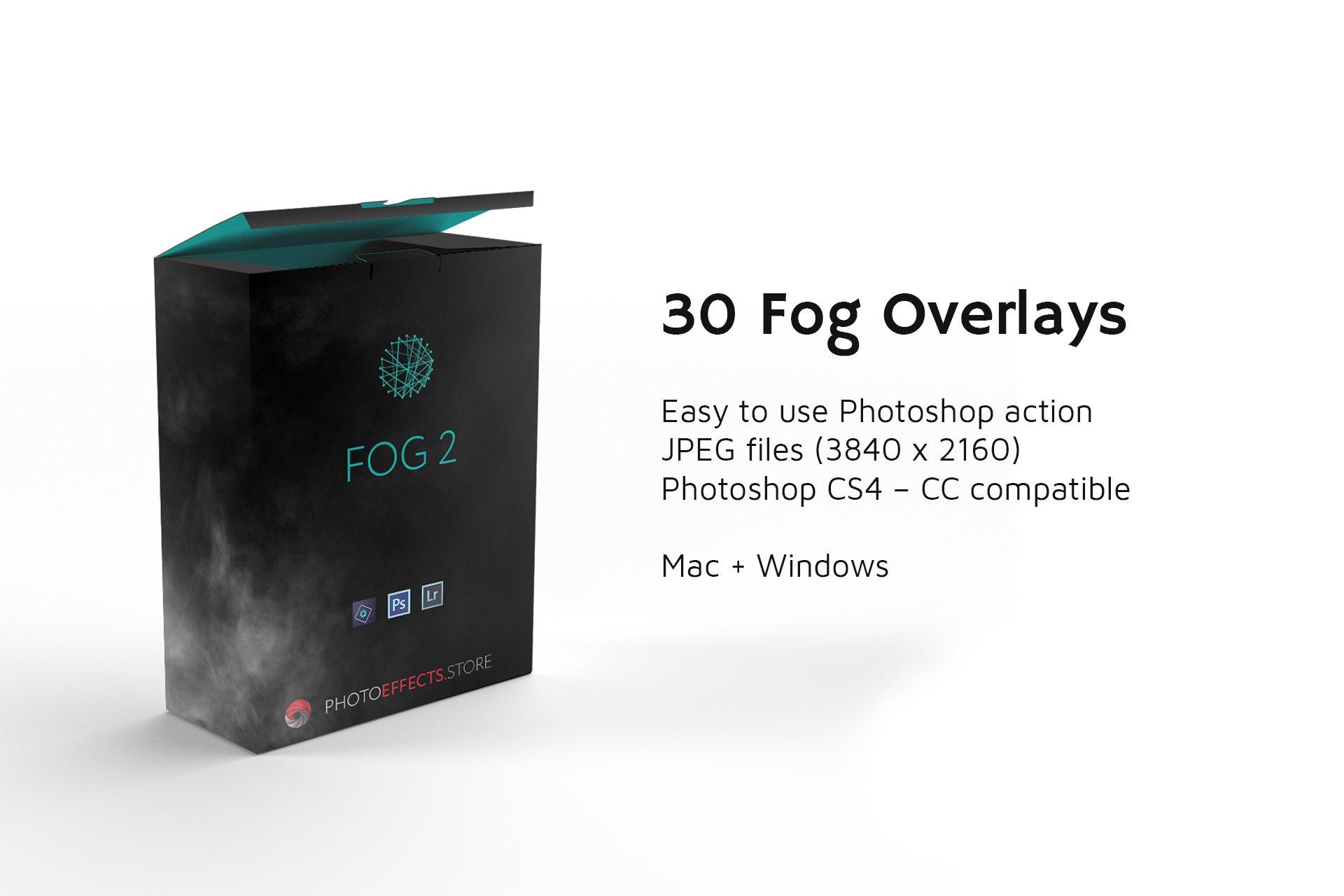30张高清烟雾叠加层JPG图片素材 30 Fog Photo Overlays 2.0插图(1)