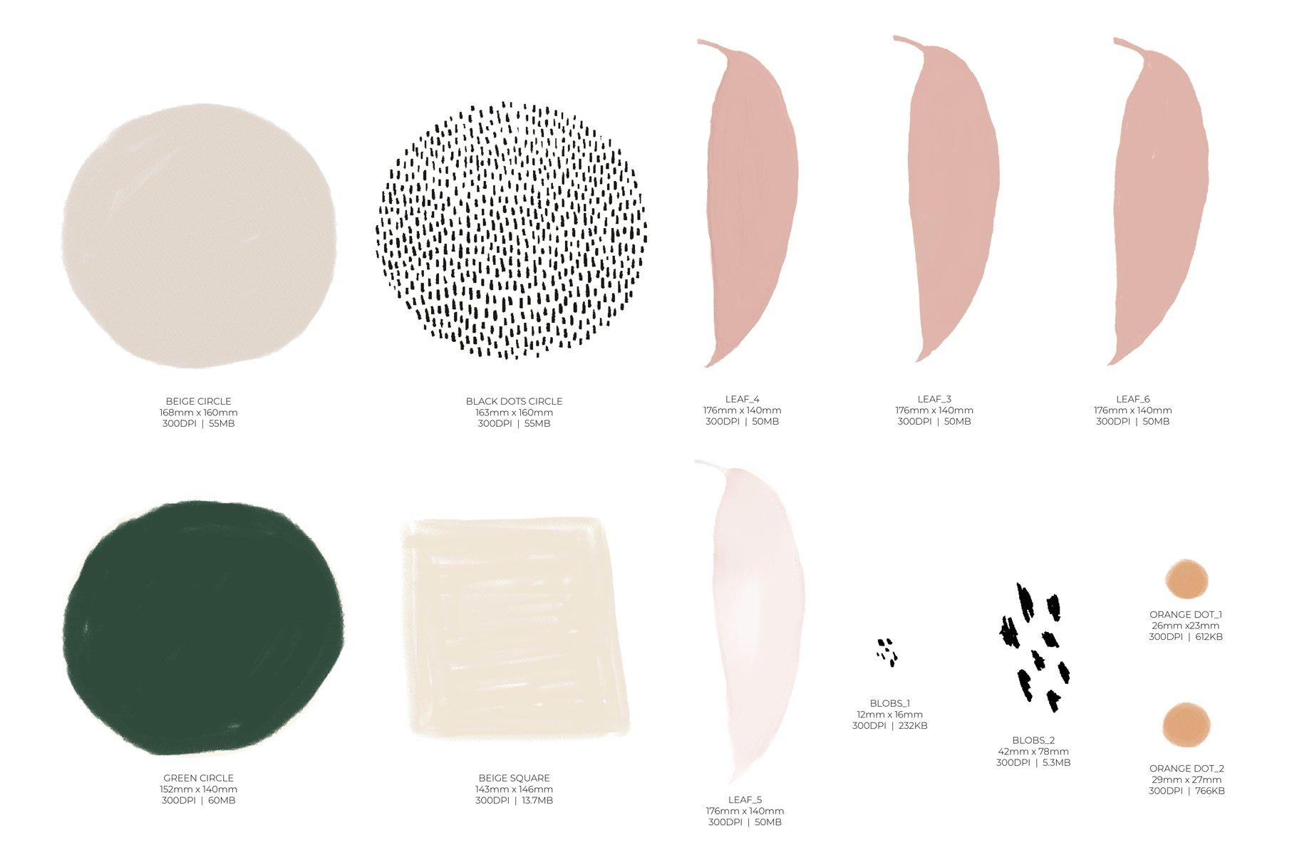 抽象有机形状图案矢量素材集 Komorebi Organic Shapes Pattern Set插图(6)