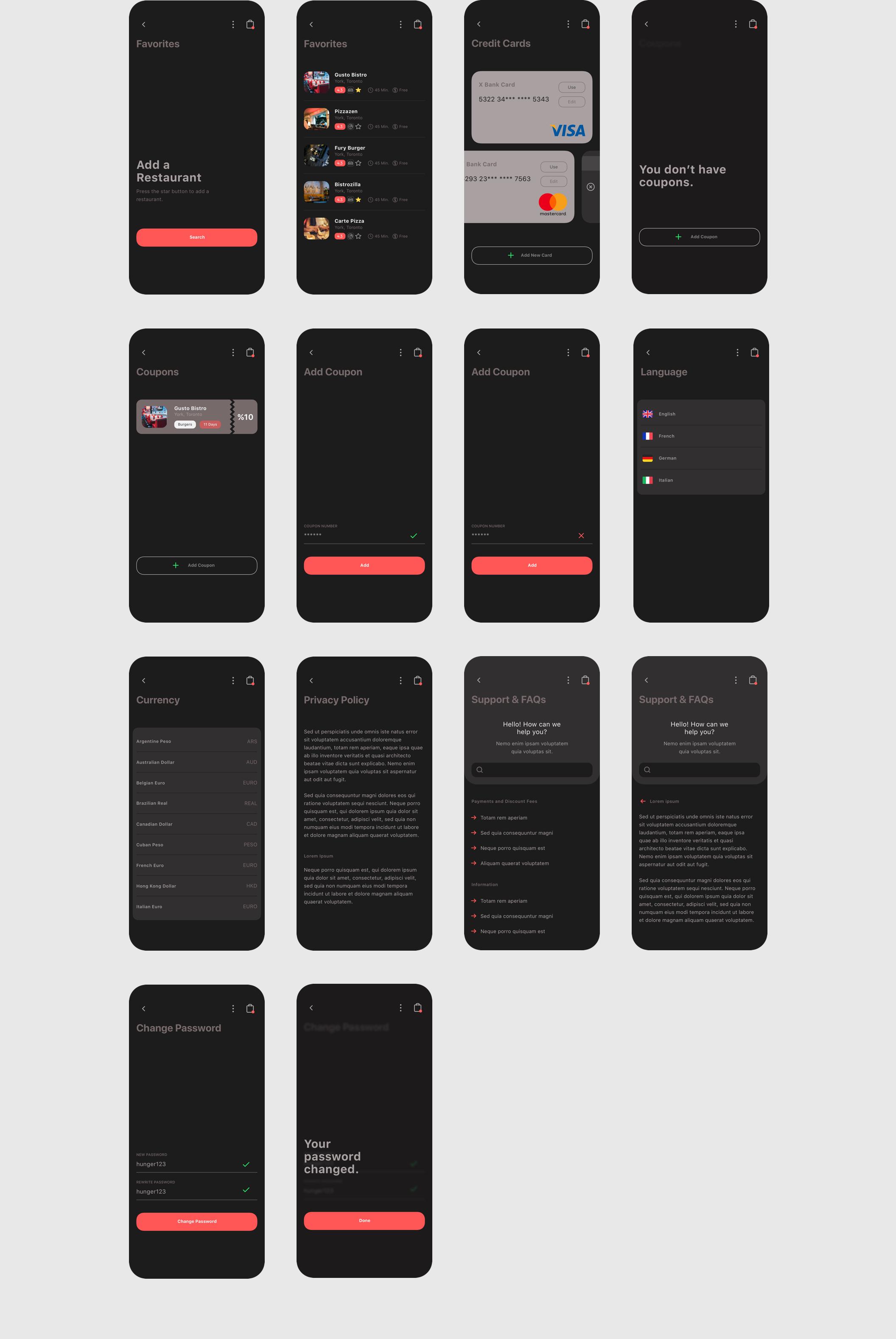 食品外卖配送服务移动应用APP界面设计UI套件 Spes Dark Food Delivery App UI Kit插图(13)