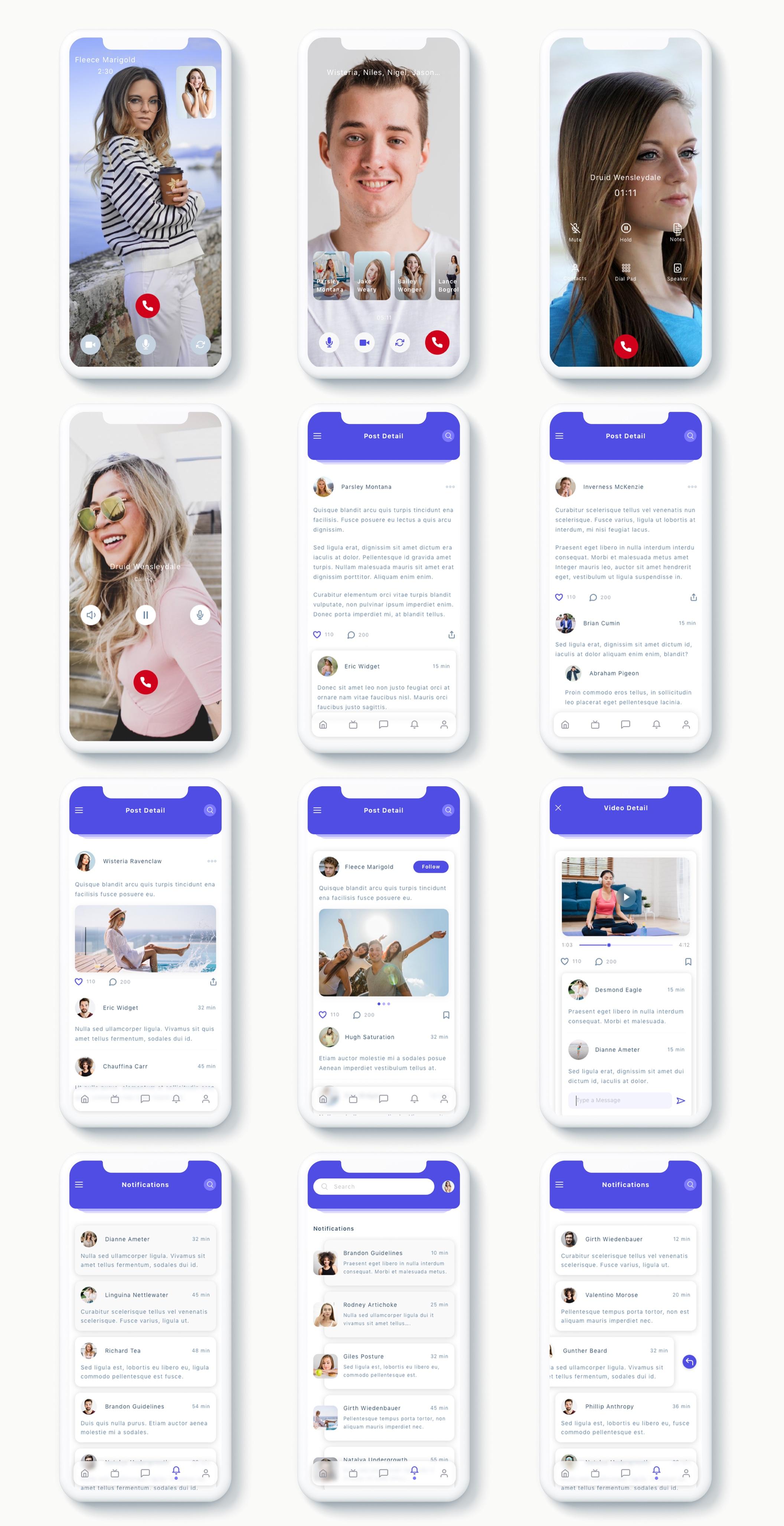 交友社交APP应用界面社交UI套件 Susen – Social Network App UI Kit插图(7)
