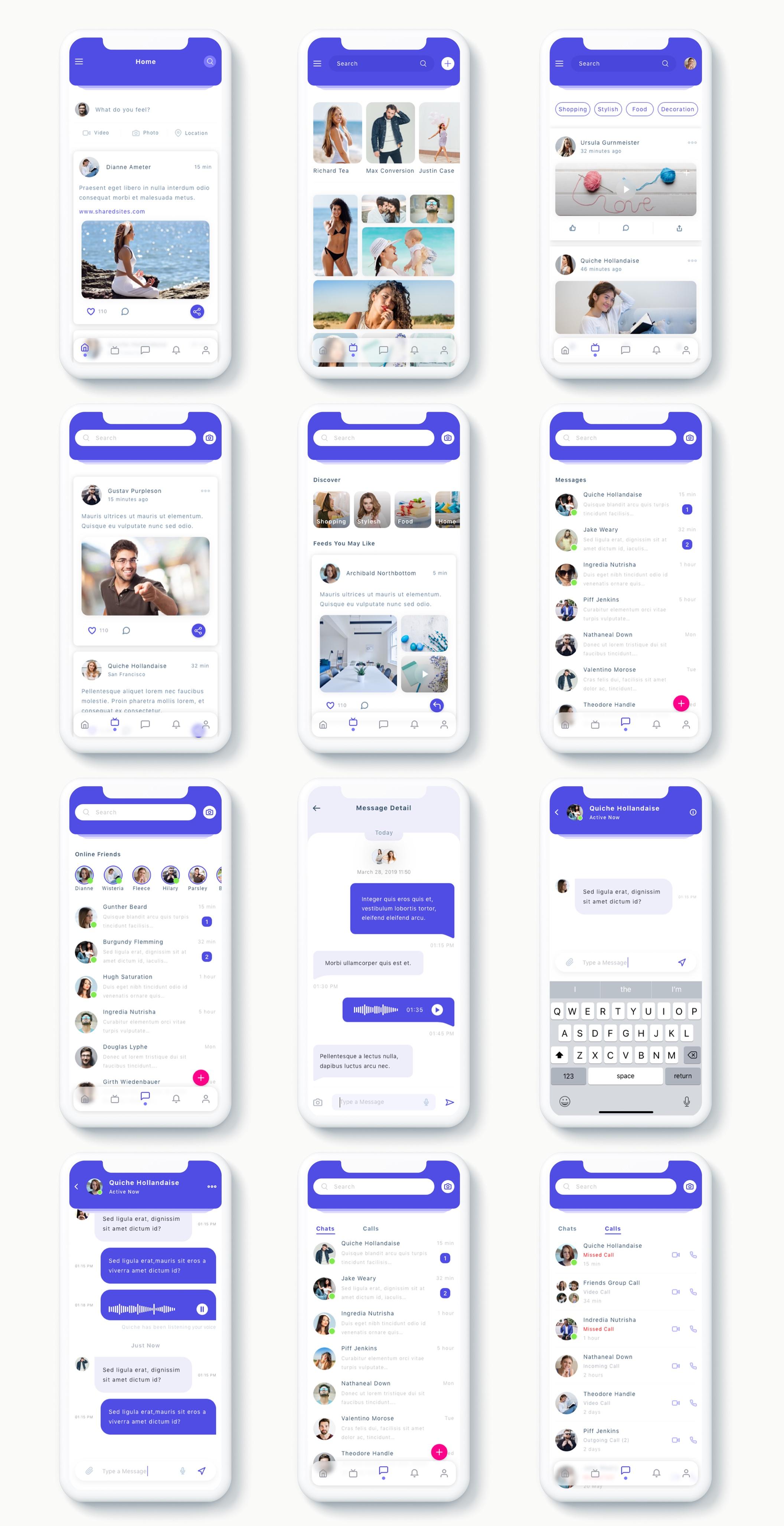 交友社交APP应用界面社交UI套件 Susen – Social Network App UI Kit插图(10)