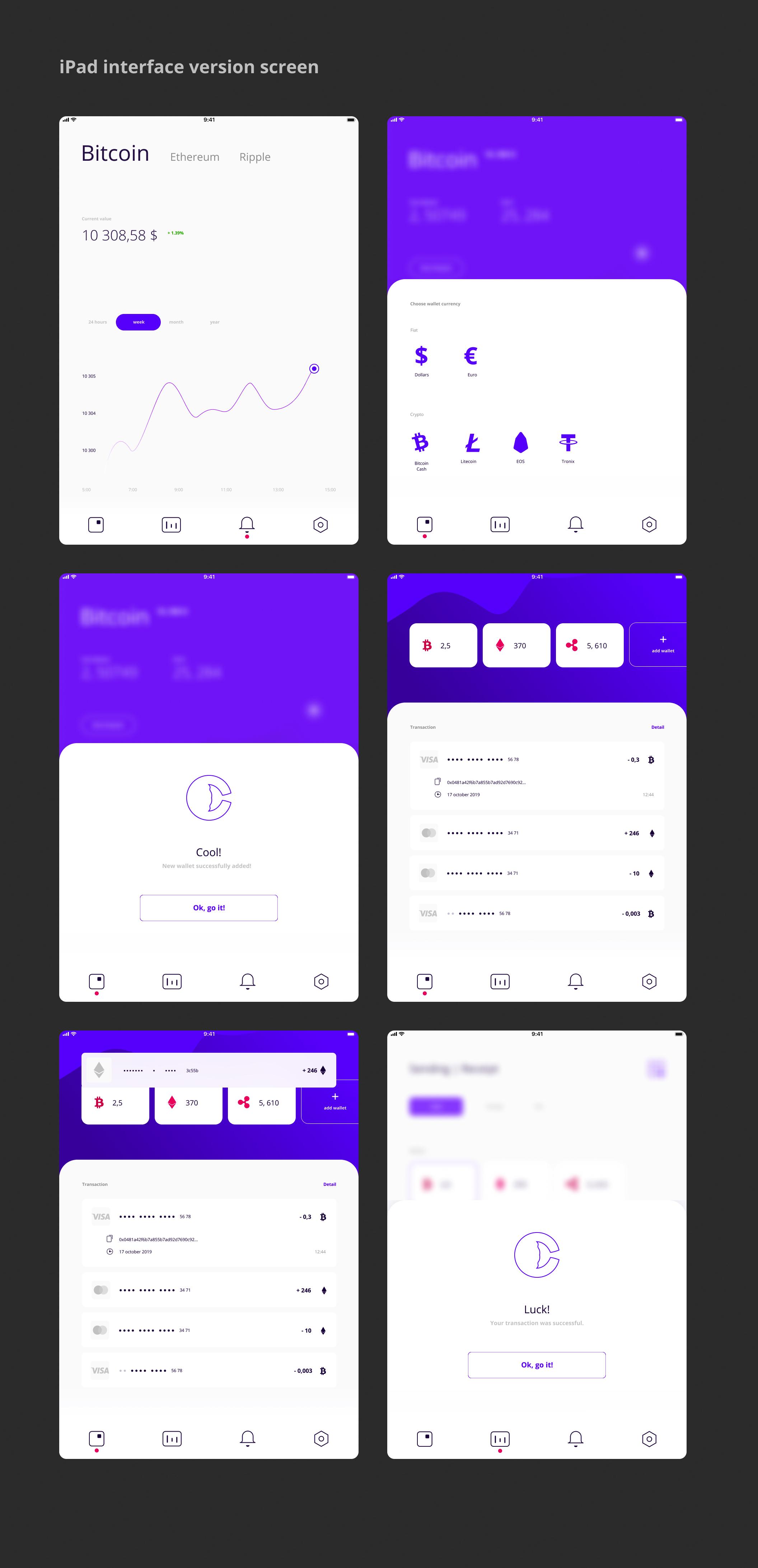 加密电子钱包主题iOS APP应用UI套件 WhaleCrypto | UI kit插图(20)
