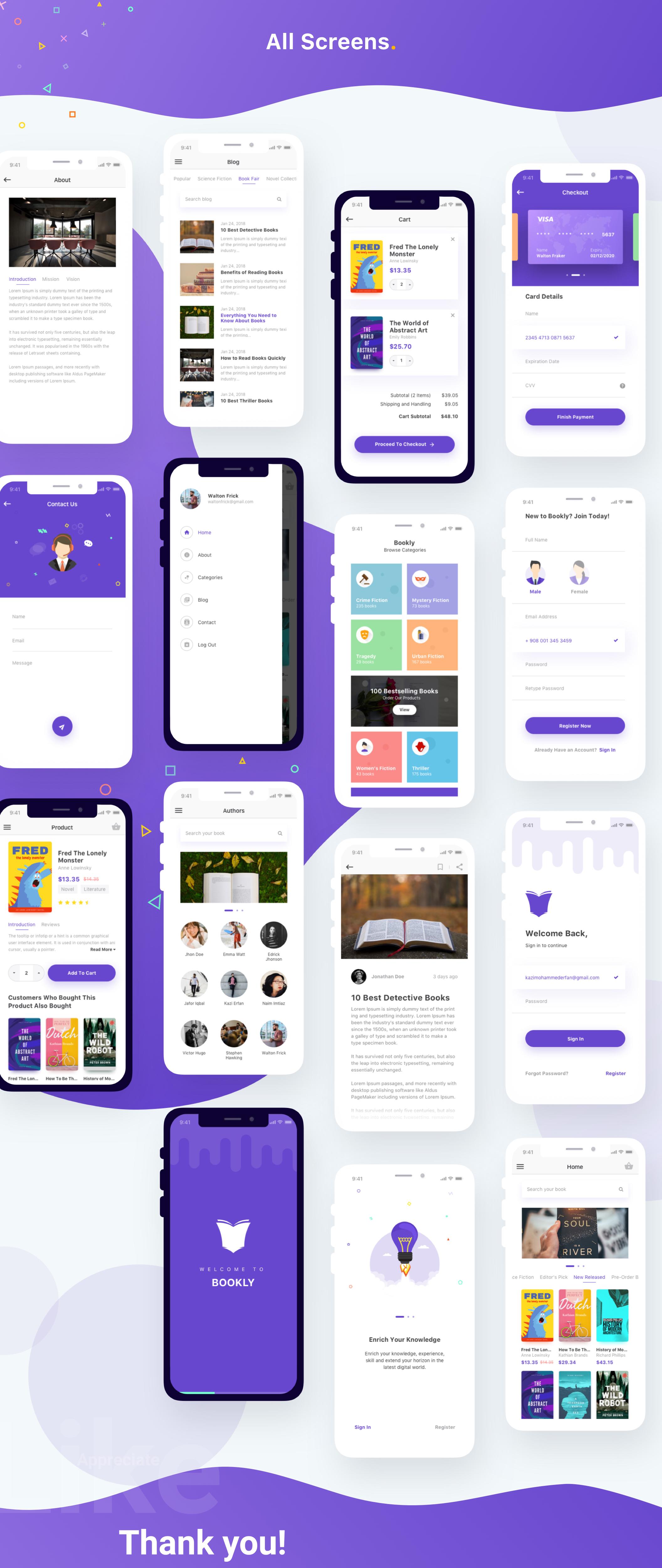 现代时尚图书在线购买商城APP应用UI界面设计模板 Bookly iOS UI Kit插图(6)