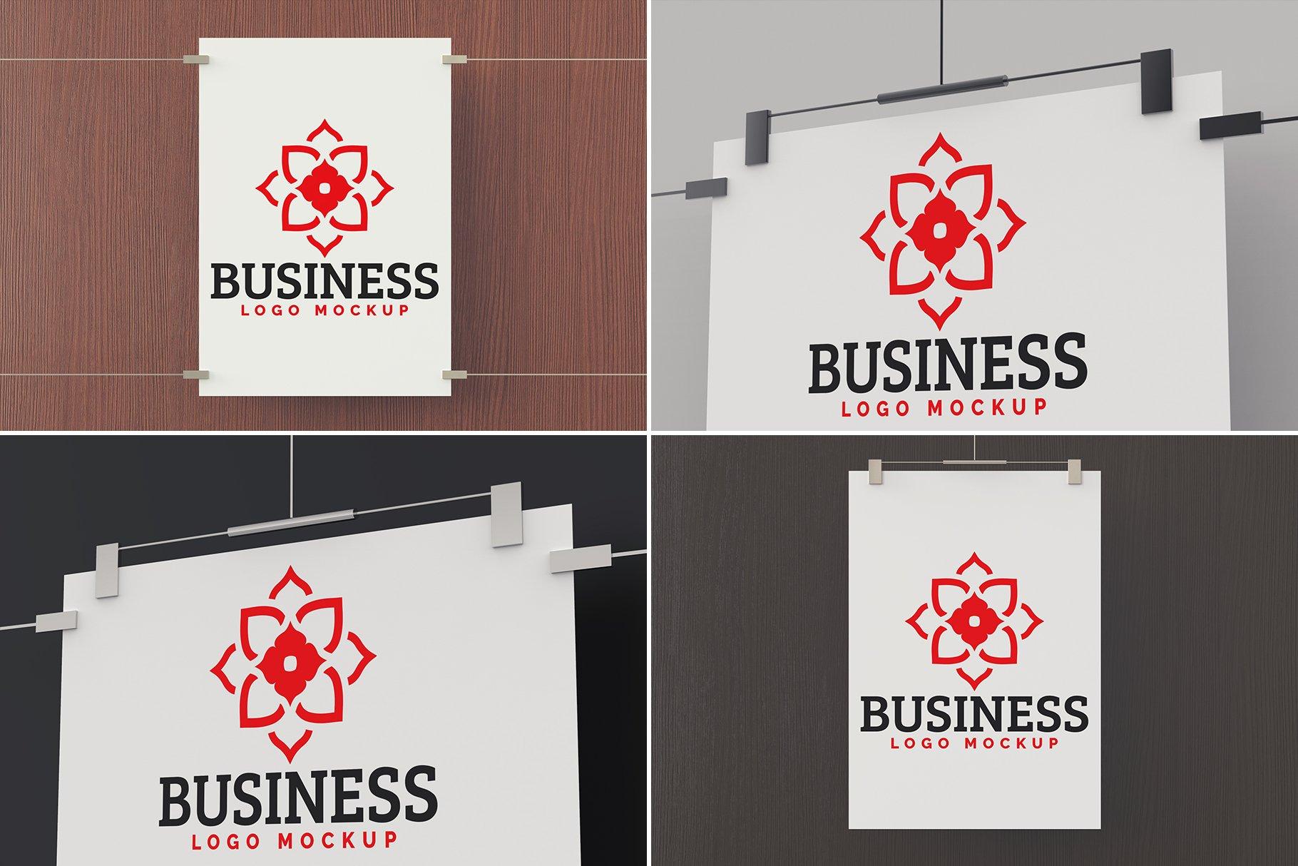 100款标志徽标设计展示PSD样机模板合集 100 Logo Mockups Bundle Vol.5插图(9)