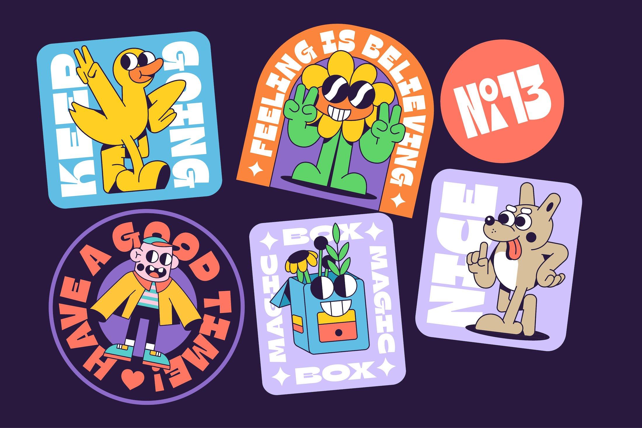 90年代有趣复古卡通漫画书贴纸设计英文字体下载 Gulfs Display Font Family插图(4)