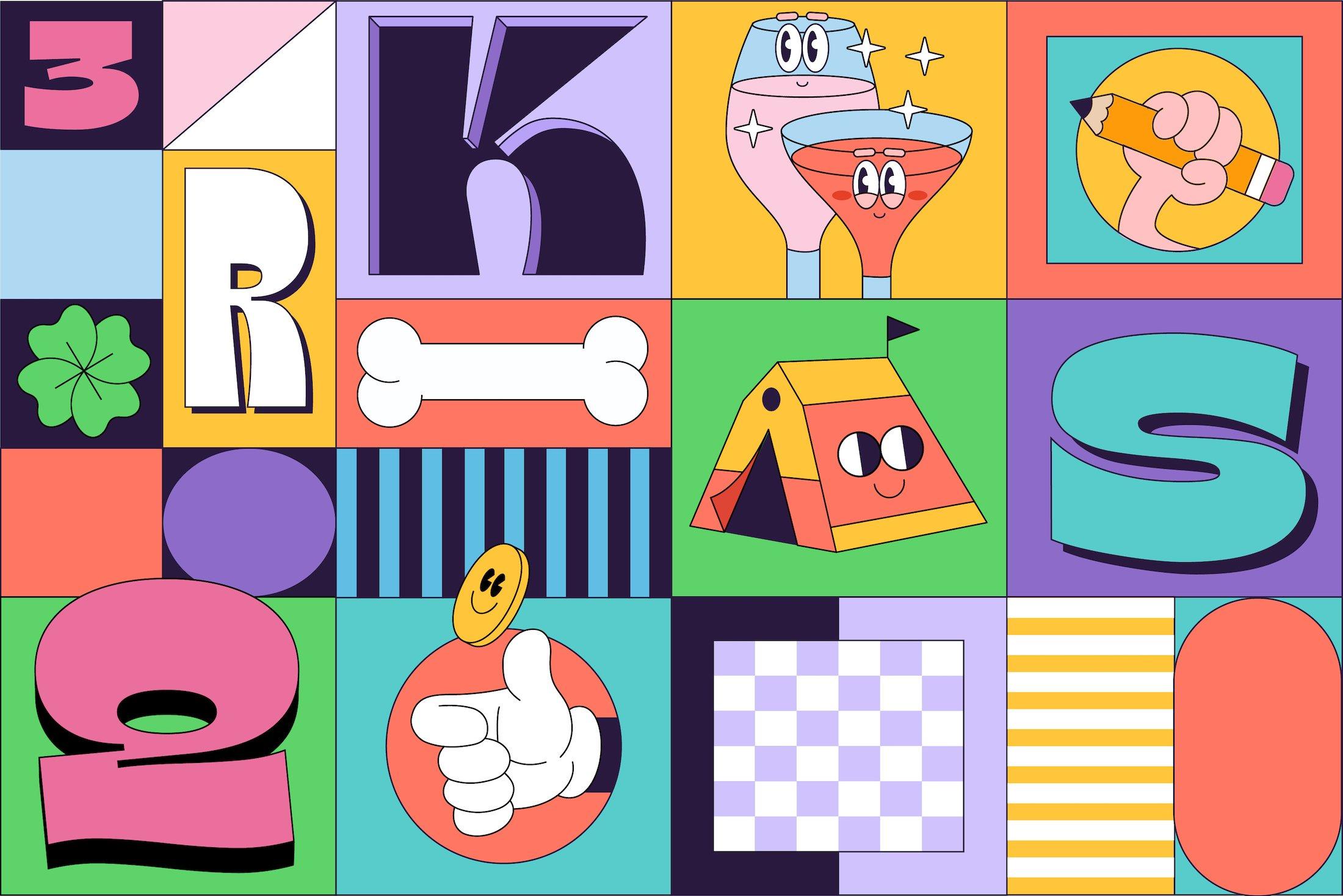 90年代有趣复古卡通漫画书贴纸设计英文字体下载 Gulfs Display Font Family插图(9)