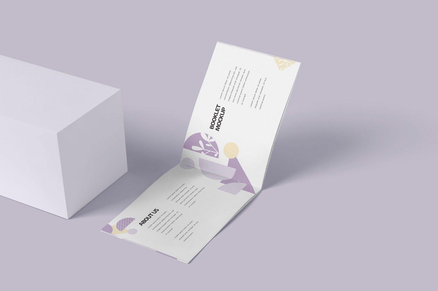 横版宣传手册画册设计展示样机模板 Landscape Booklet Mockup Templates插图(3)