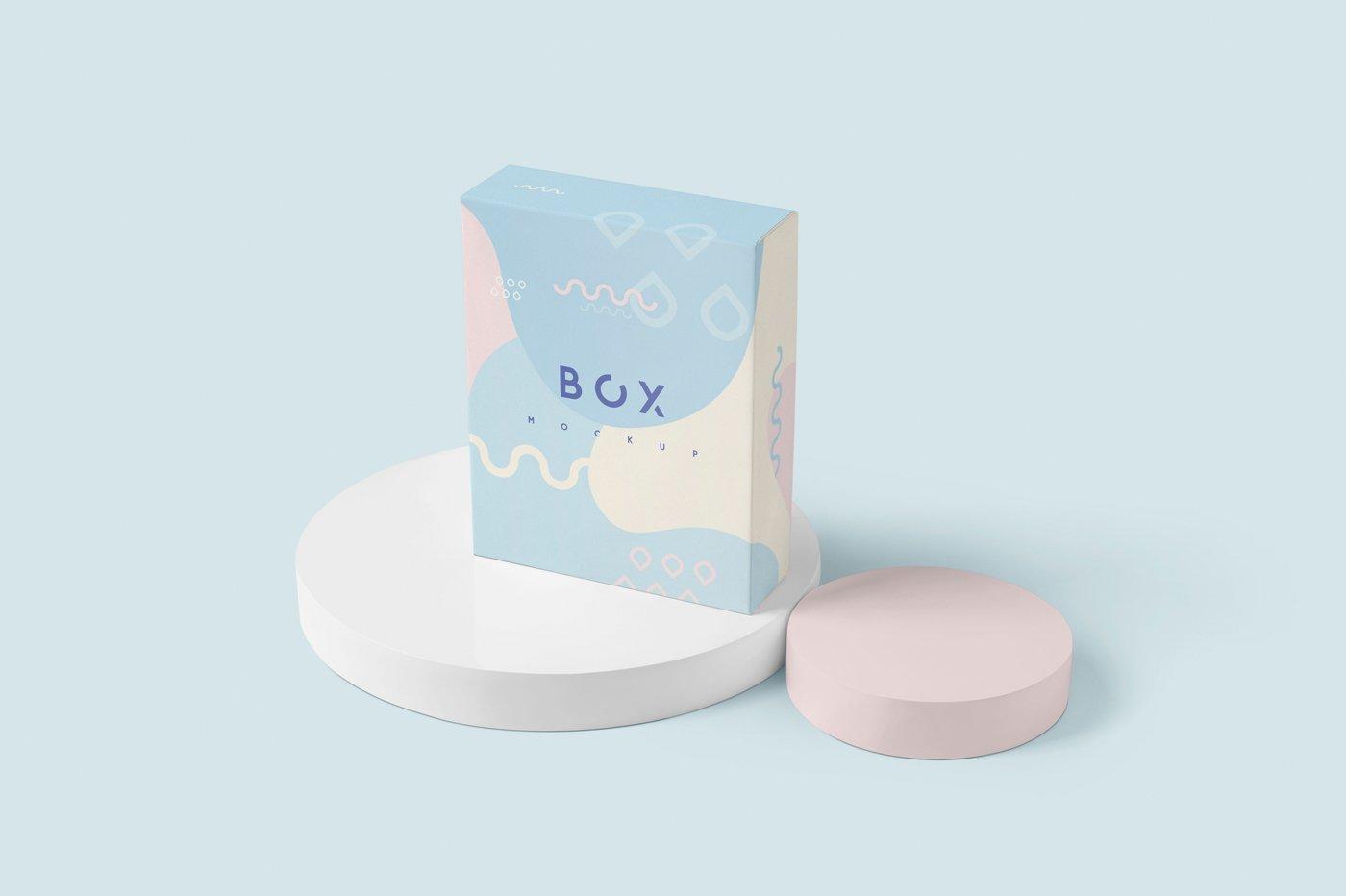 礼品包装纸盒设计展示样机模板 Slim Gift Packaging Box Mockups插图(4)