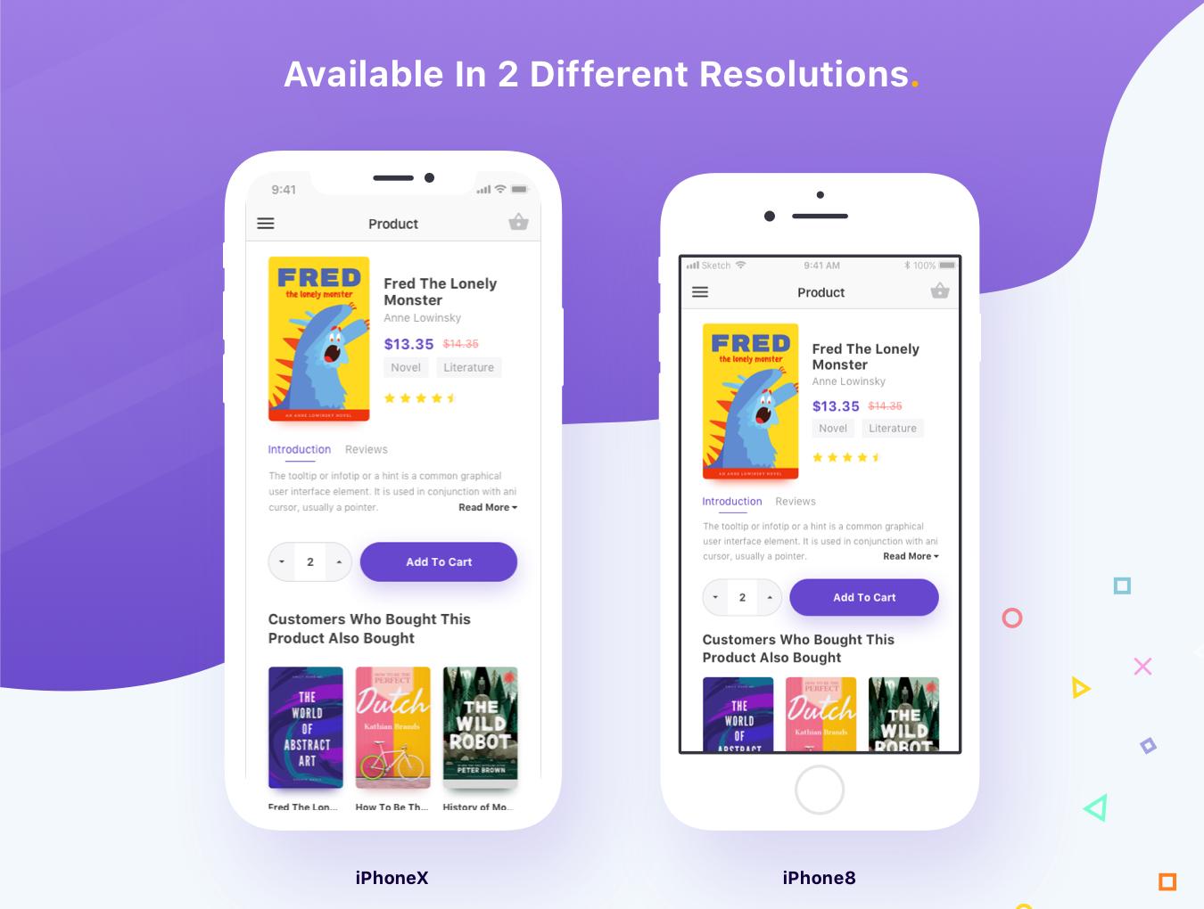 现代时尚图书在线购买商城APP应用UI界面设计模板 Bookly iOS UI Kit插图(4)