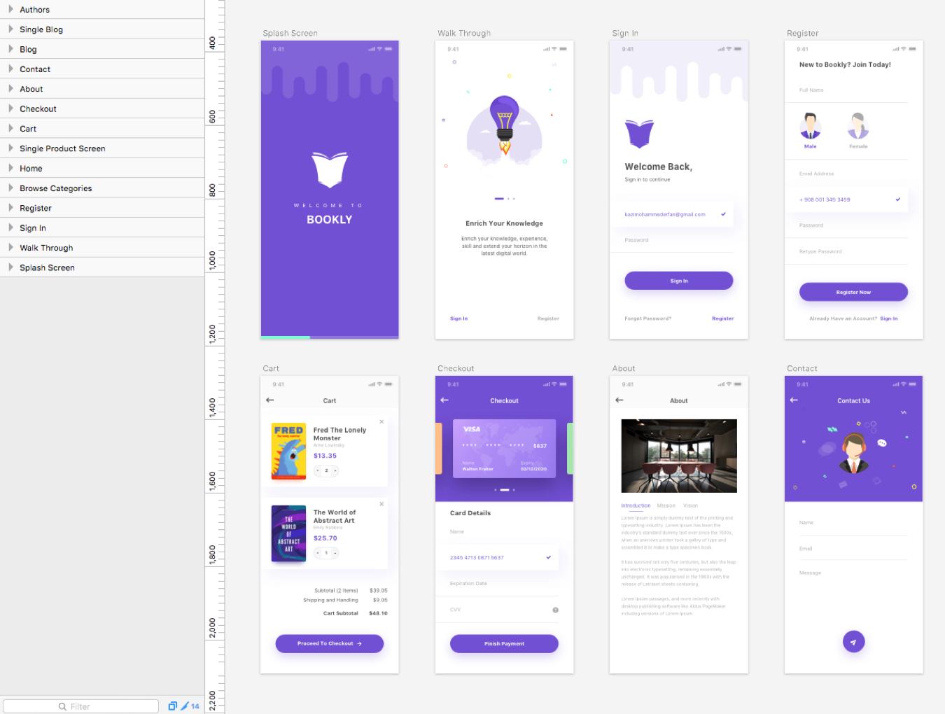 现代时尚图书在线购买商城APP应用UI界面设计模板 Bookly iOS UI Kit插图(5)