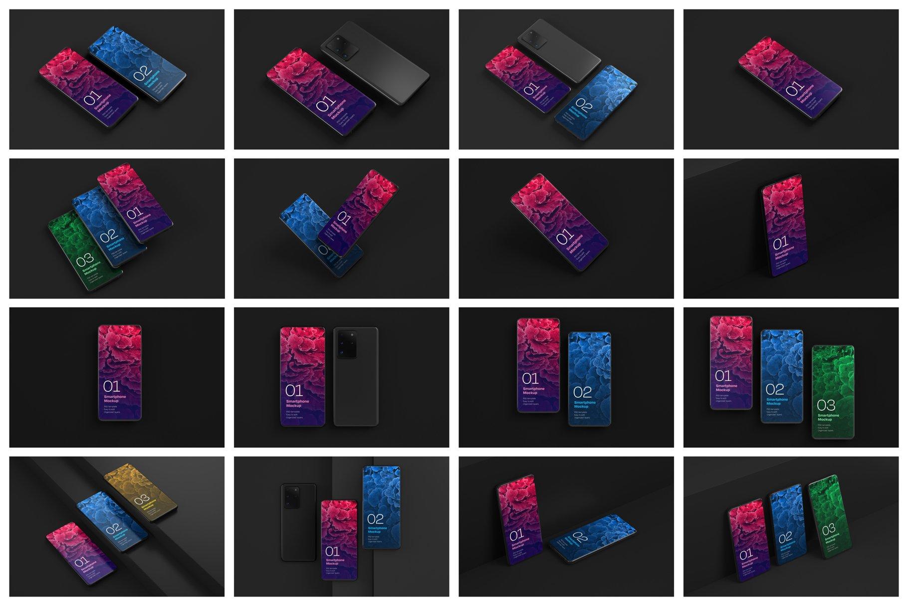 16款应用APP设计三星Galaxy S20手机屏幕演示样机 Galaxy S20 Ultra Device Mockup插图(16)