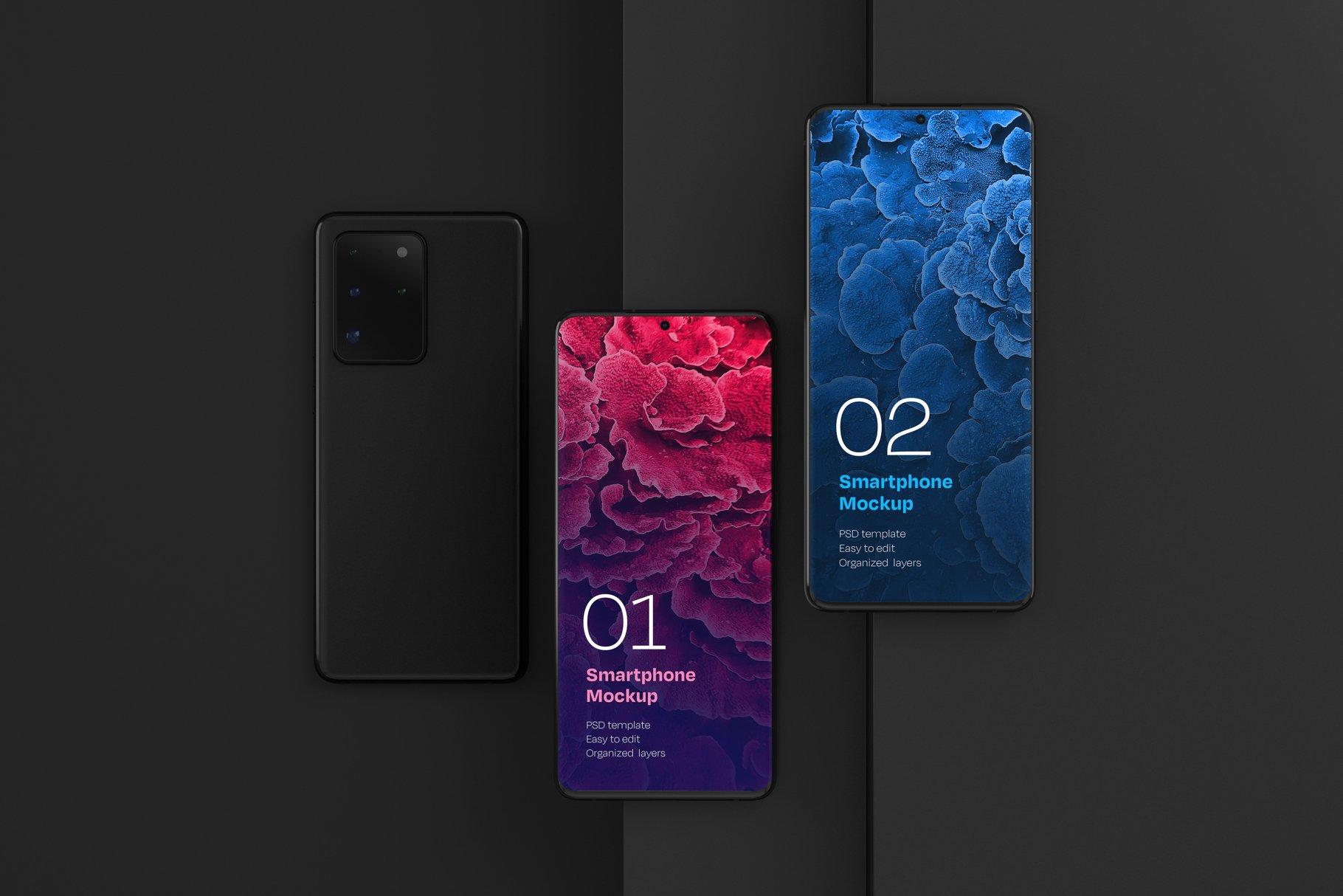 16款应用APP设计三星Galaxy S20手机屏幕演示样机 Galaxy S20 Ultra Device Mockup插图(2)