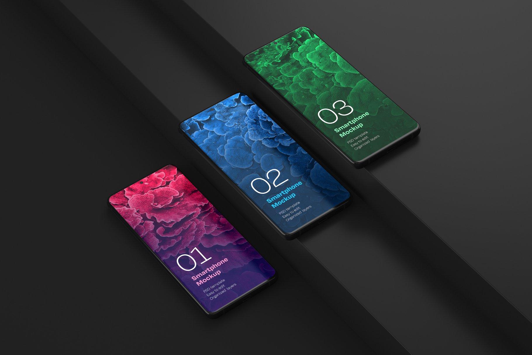 16款应用APP设计三星Galaxy S20手机屏幕演示样机 Galaxy S20 Ultra Device Mockup插图(3)