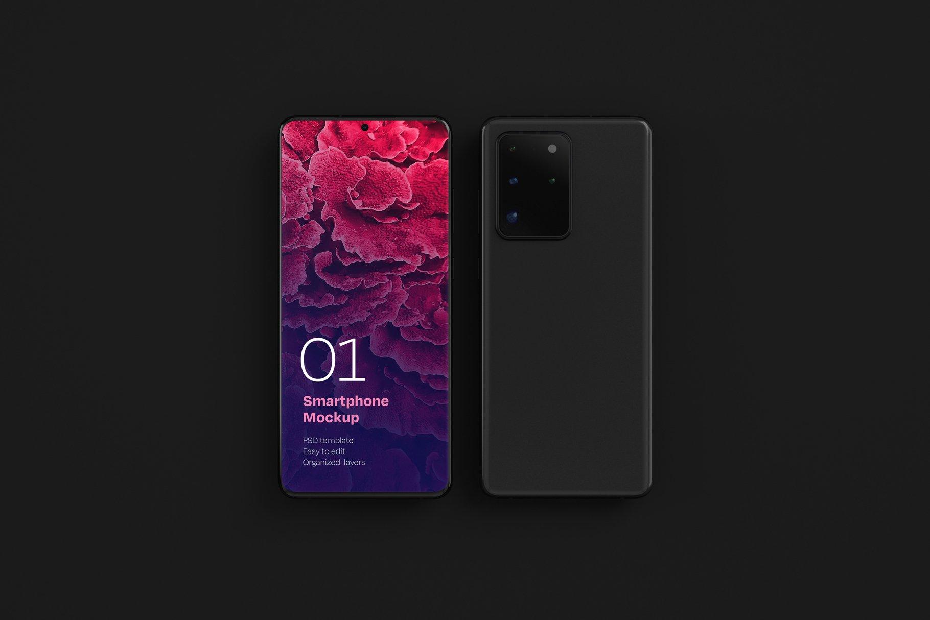 16款应用APP设计三星Galaxy S20手机屏幕演示样机 Galaxy S20 Ultra Device Mockup插图(5)