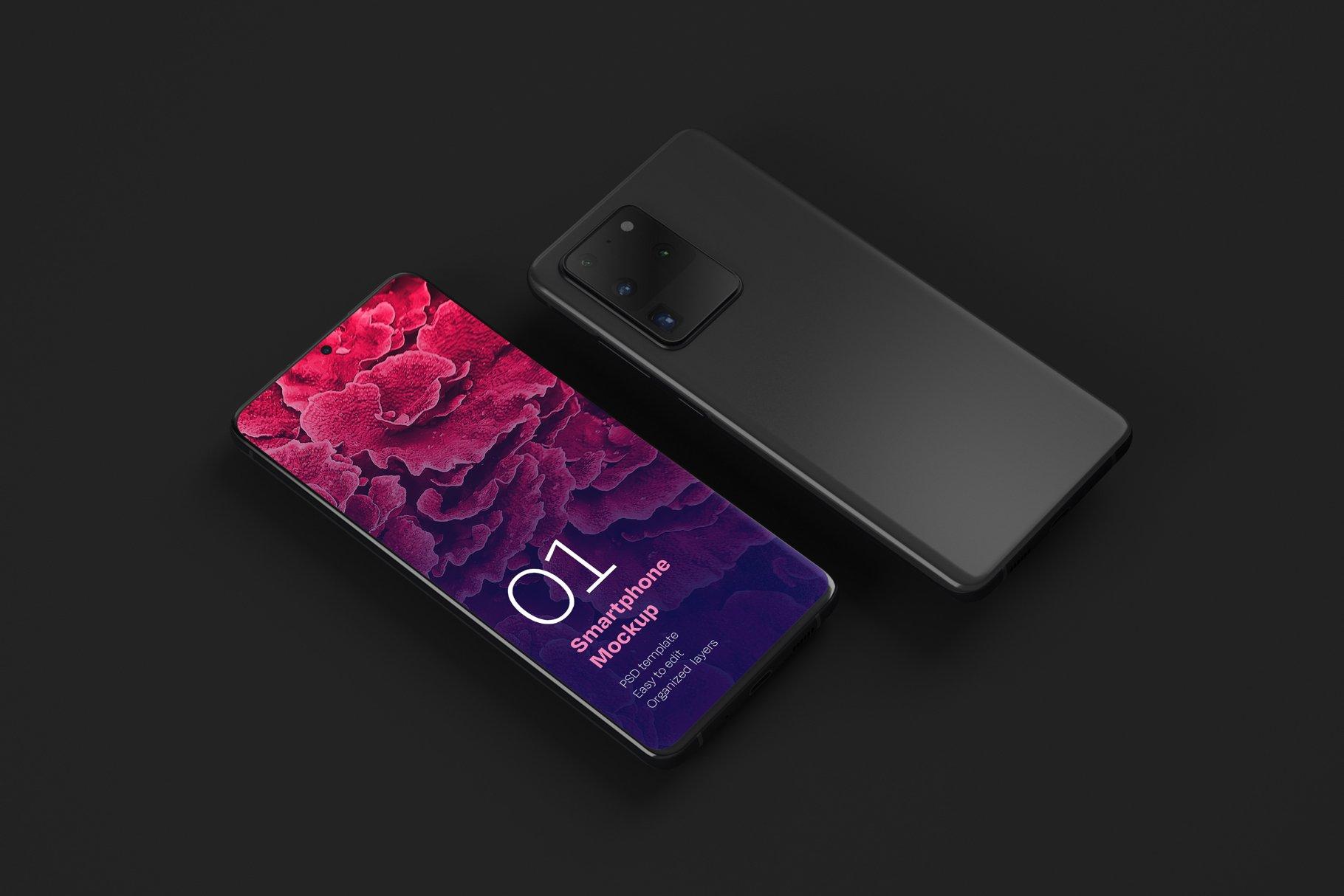 16款应用APP设计三星Galaxy S20手机屏幕演示样机 Galaxy S20 Ultra Device Mockup插图(9)