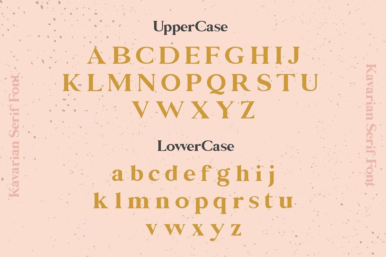现代雅致手写衬线英文字体下载 Kavarian Modern Elegant Serif Font插图(1)