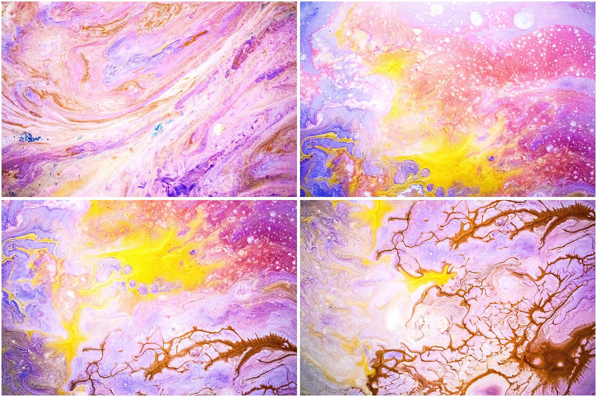 8款高清抽象涂料丙烯酸背景纹理图片素材 Liquid Paint – Lillac Textures插图(2)