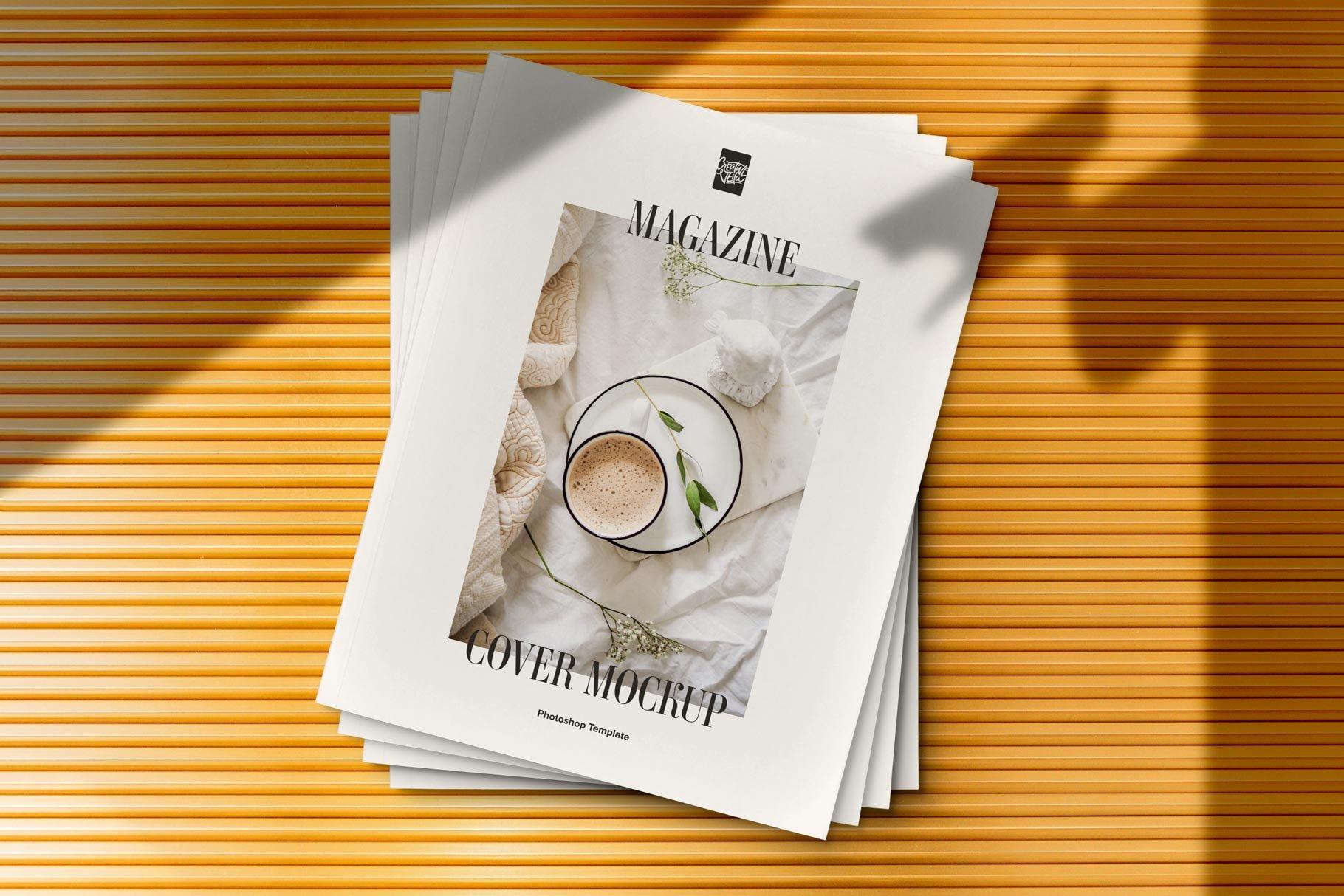 精美杂志画册设计展示样机模板 Magazine Cover Mockup Set插图(1)