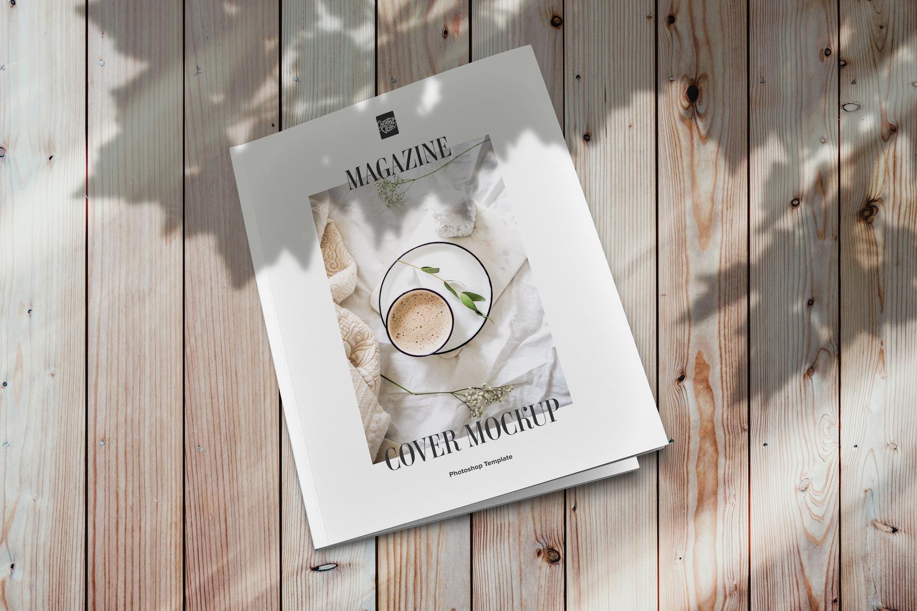 精美杂志画册设计展示样机模板 Magazine Cover Mockup Set插图(2)