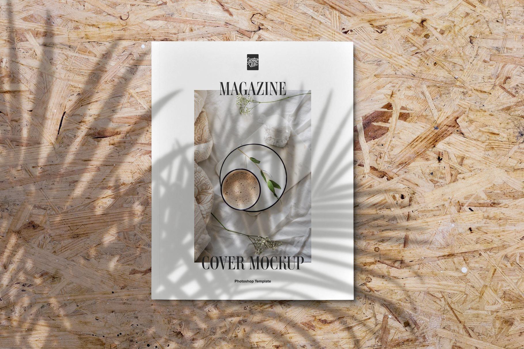 精美杂志画册设计展示样机模板 Magazine Cover Mockup Set插图(3)
