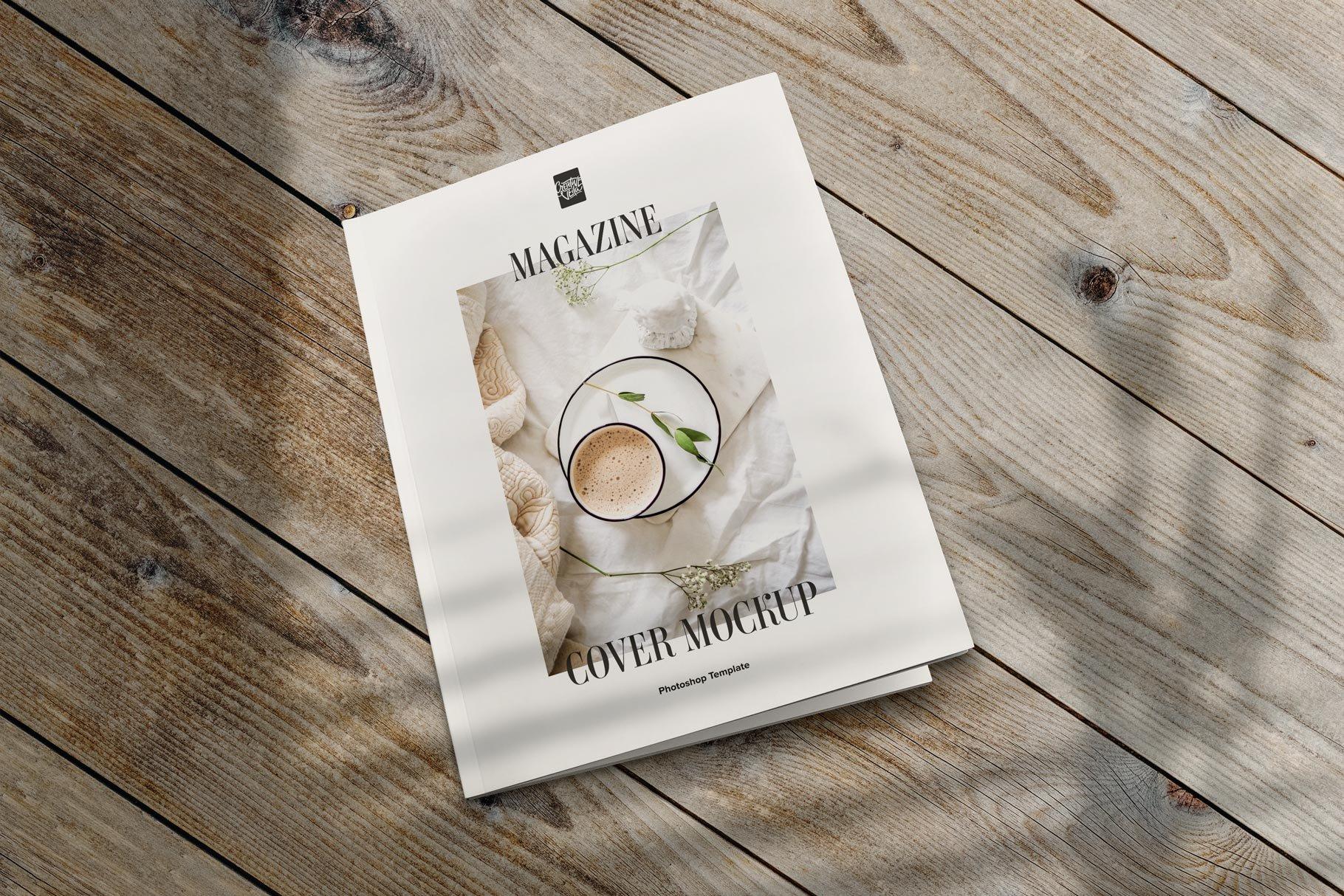 精美杂志画册设计展示样机模板 Magazine Cover Mockup Set插图(4)