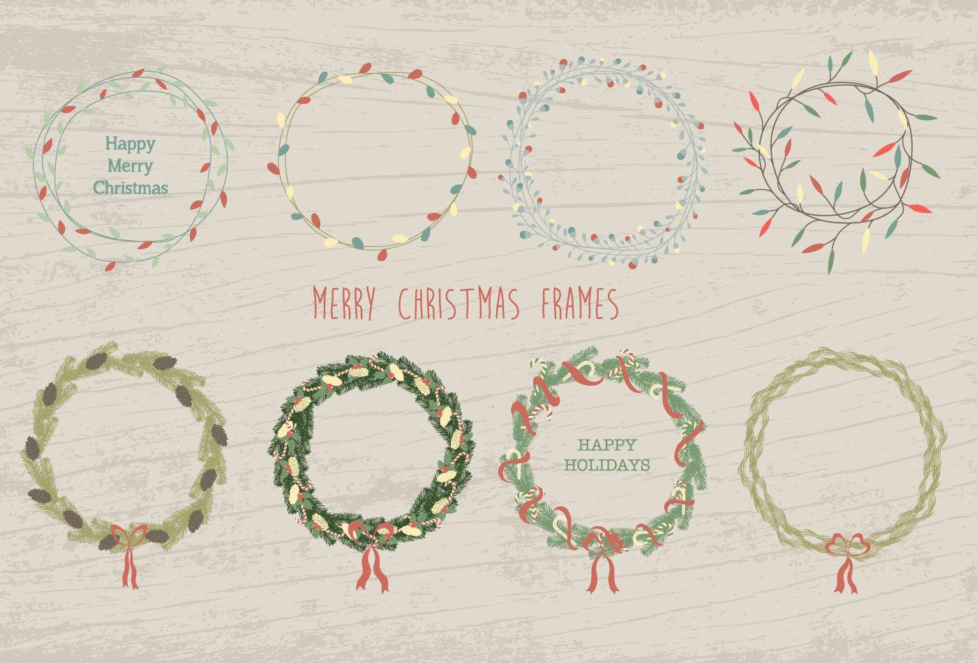 100款圣诞节主题元素矢量素材 100 Merry Christmas Elements插图(2)