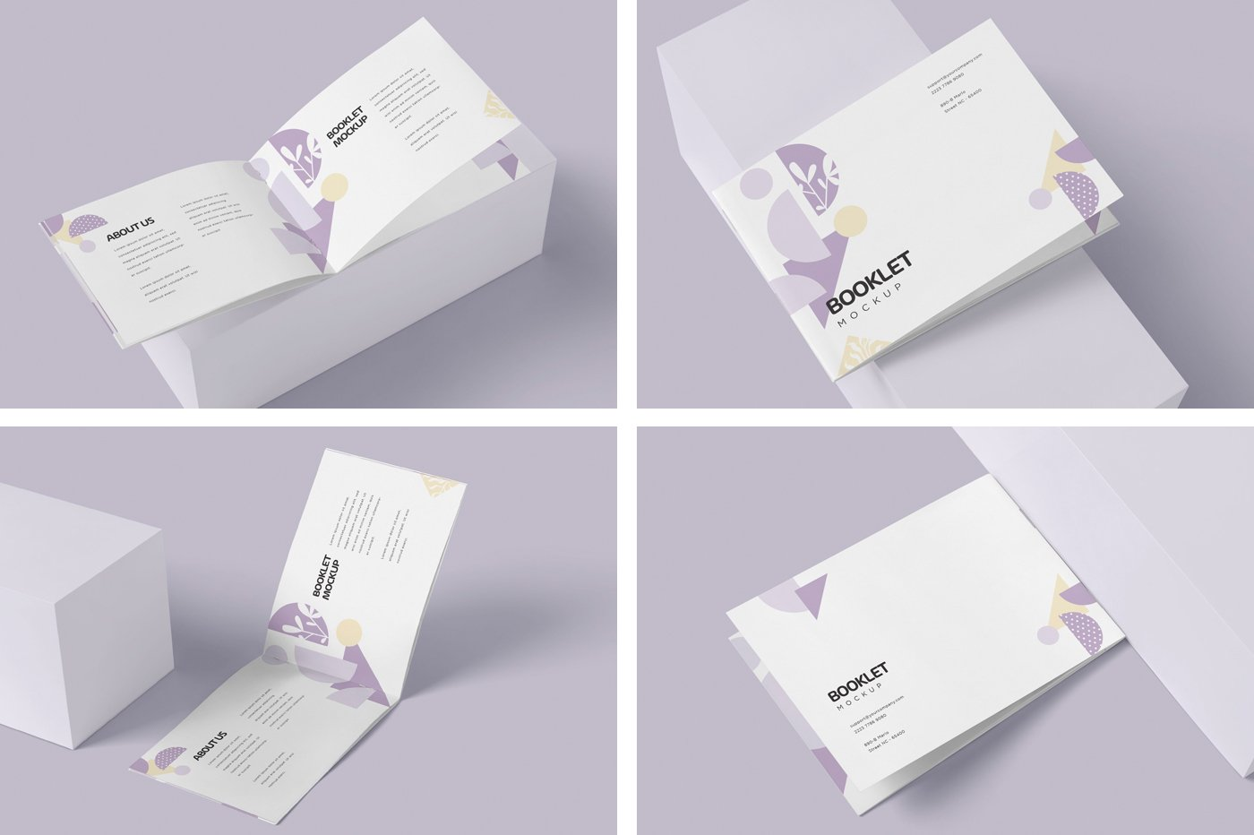 横版宣传手册画册设计展示样机模板 Landscape Booklet Mockup Templates插图(5)