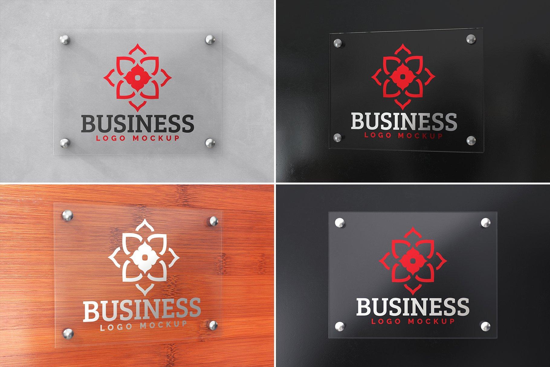 100款品牌标志LOGO徽标设计展示样机模板合集 100 Logo Mockups Bundle Vol.4插图(25)