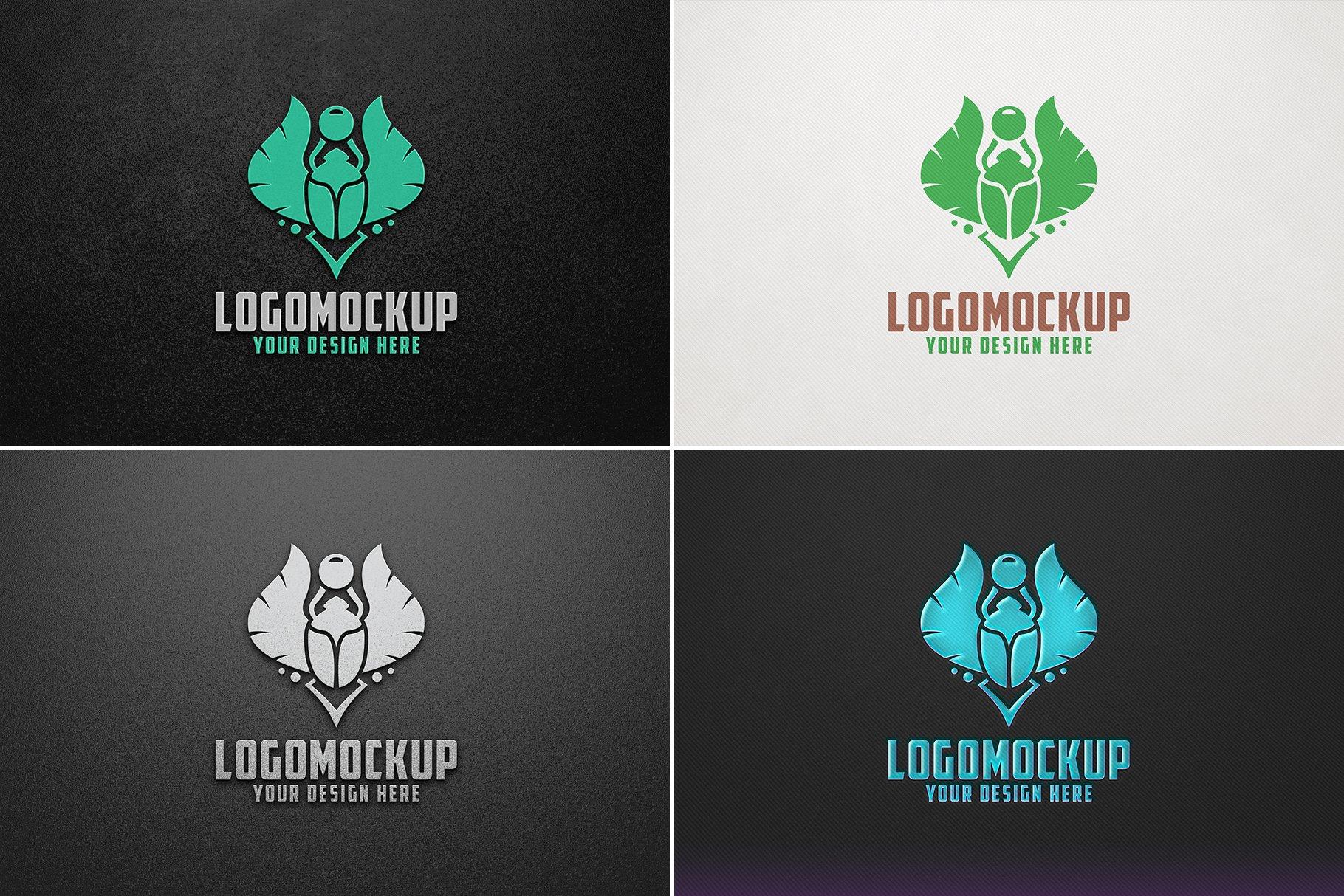 100款品牌标志LOGO徽标设计展示样机模板合集 100 Logo Mockups Bundle Vol.4插图(17)