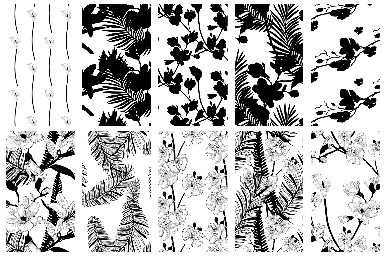 35款优雅花卉植物无缝隙矢量图案素材 35+ Patterns & 8 Instagram Templates插图(13)