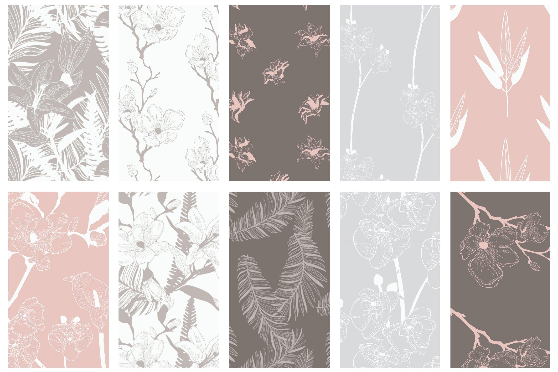 35款优雅花卉植物无缝隙矢量图案素材 35+ Patterns & 8 Instagram Templates插图(6)