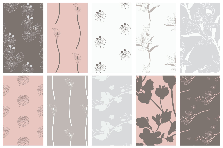 35款优雅花卉植物无缝隙矢量图案素材 35+ Patterns & 8 Instagram Templates插图(7)