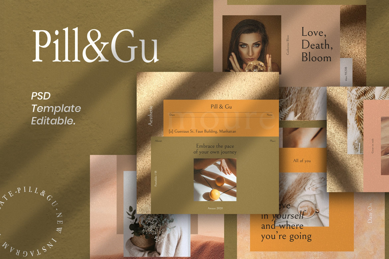 潮流服装珠宝推广新媒体海报设计模板 Pill & Gu Vertical – Insta Story & Post插图(5)