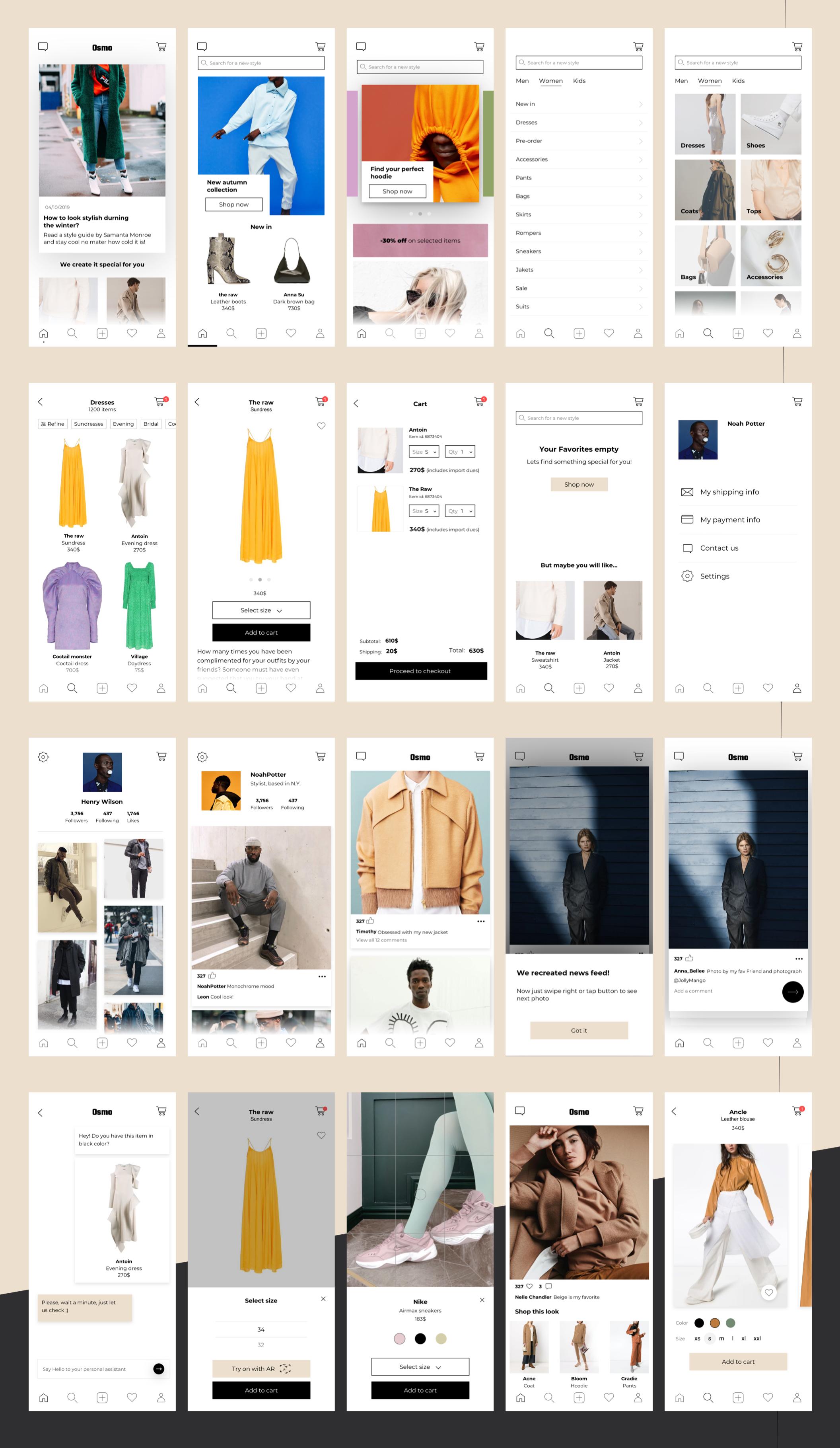 精致电子商城APP应用设计UI套件素材 Osmo E-Commerce UI Kit插图(7)
