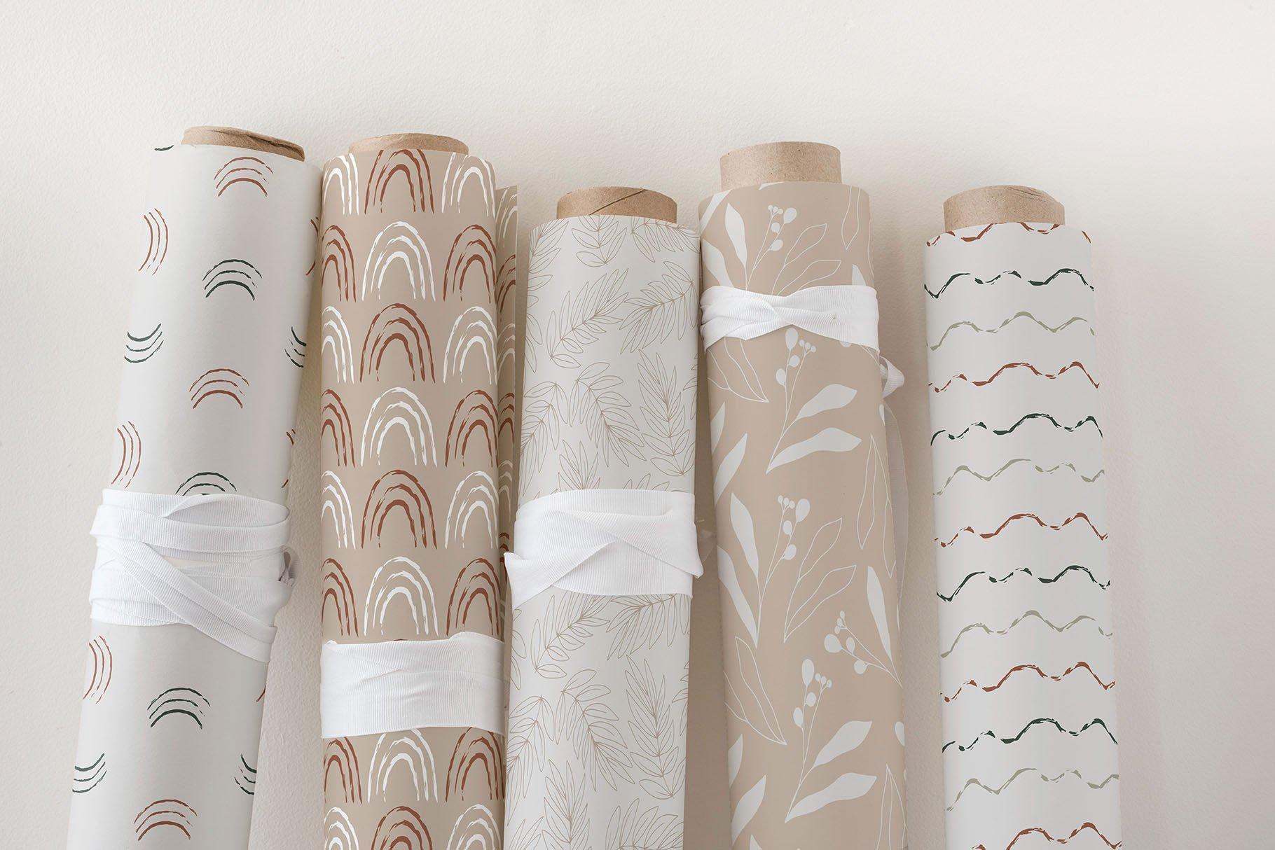 现代抽象肉桂树叶花卉矢量线条插图 Cinnamon. Modern Line Art Collection插图(2)