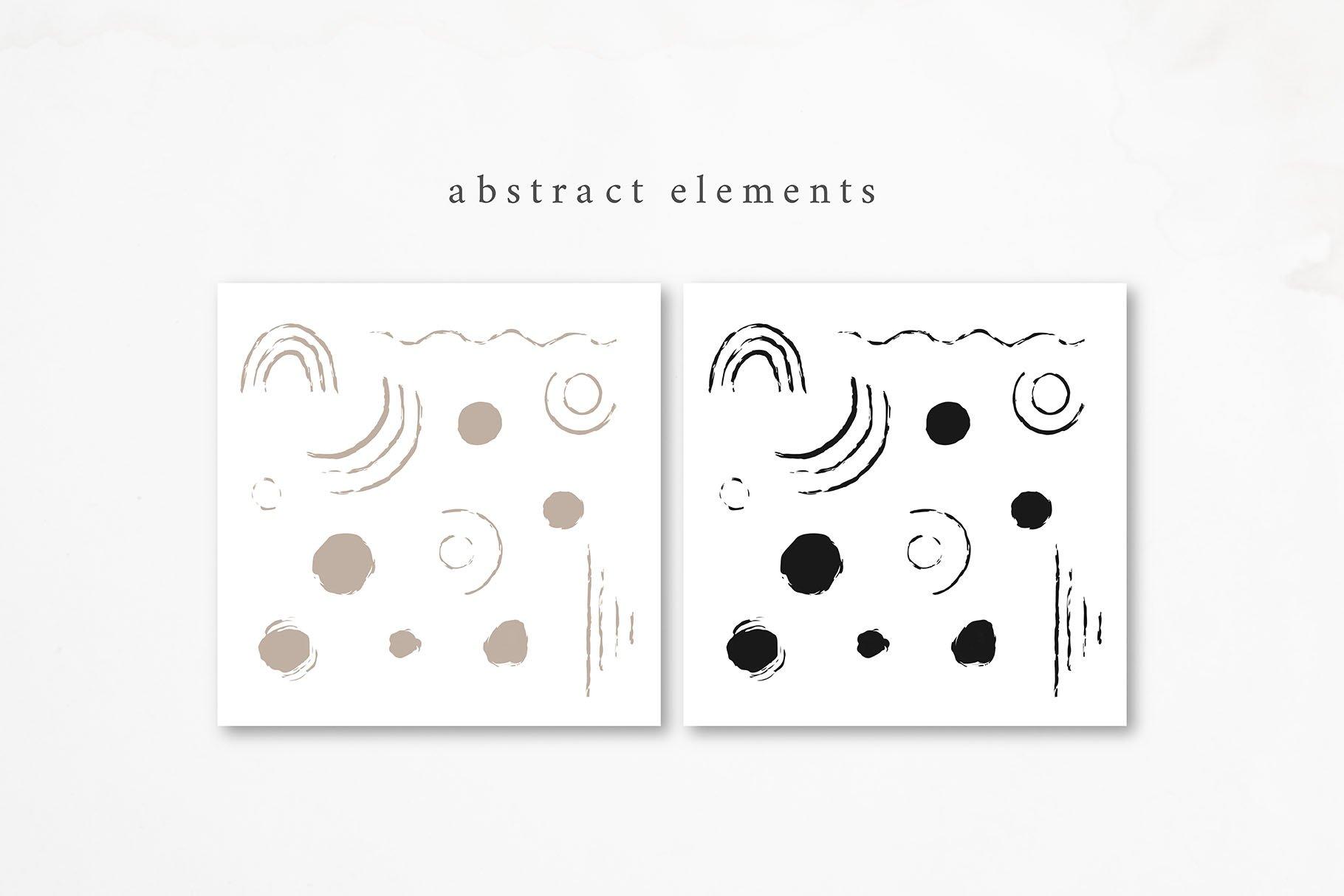 现代抽象肉桂树叶花卉矢量线条插图 Cinnamon. Modern Line Art Collection插图(8)