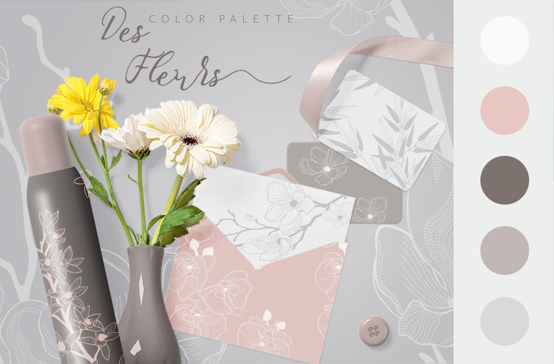 35款优雅花卉植物无缝隙矢量图案素材 35+ Patterns & 8 Instagram Templates插图(4)