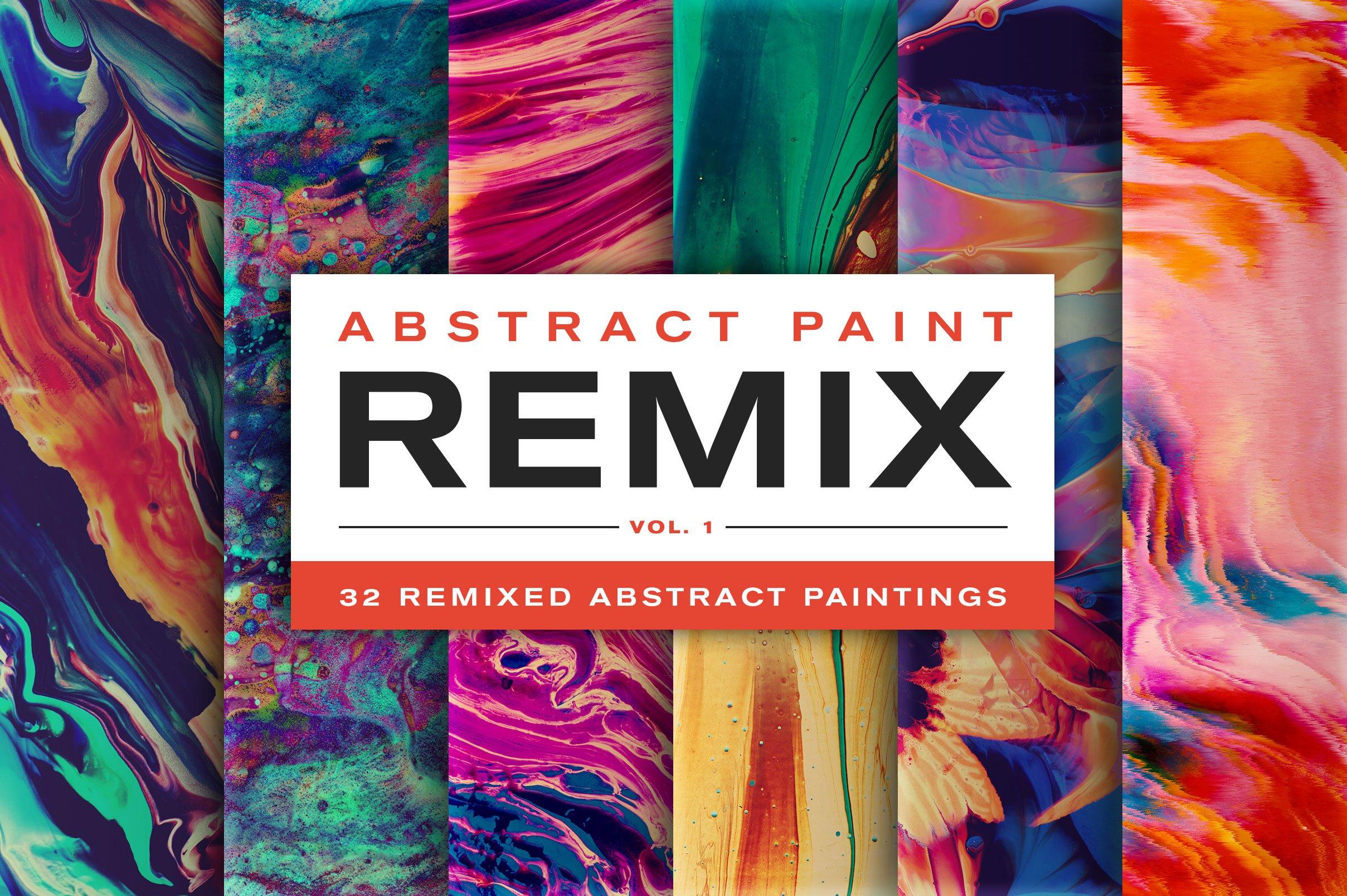 32款高清抽象丙烯酸绘画颜料背景纹理图片素材 Abstract Paint Remix Vol. 1插图