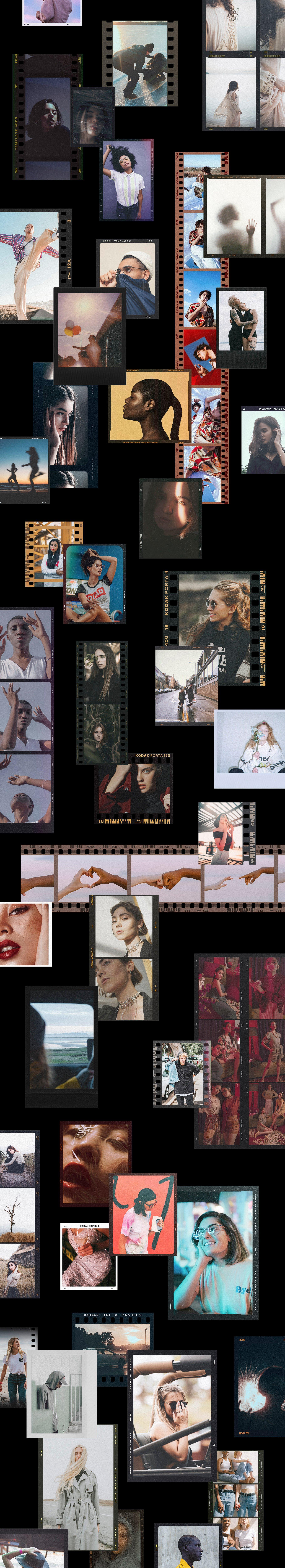 120款复古质感胶卷底片相片边框特效滤镜样机模板 Film Frame Mockup Template Bundle插图(88)