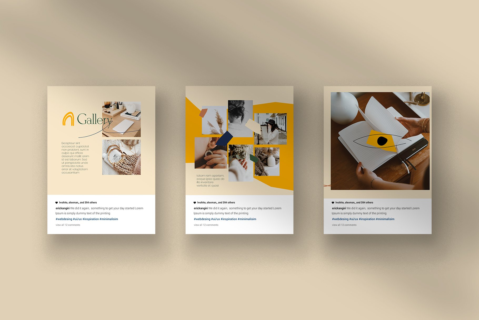 轻奢品牌推广新媒体海报设计模板 Liefde Puzzle Instagram Feed插图(5)