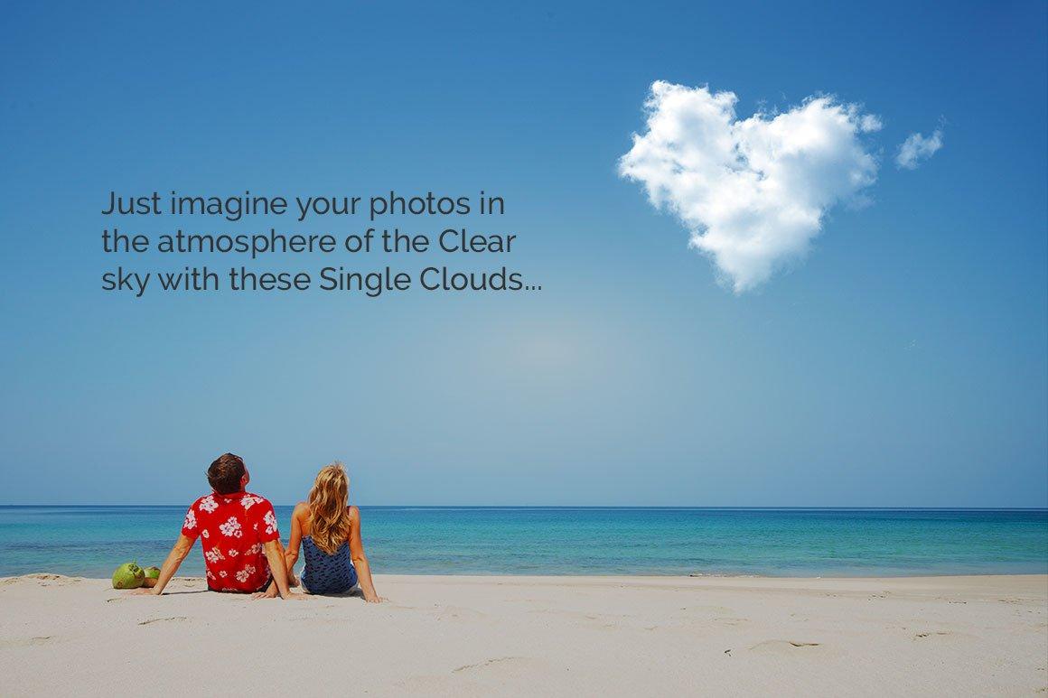 50张高清白云云朵叠加层PNG图片素材 50 Single Clouds Photo Overlays插图(4)