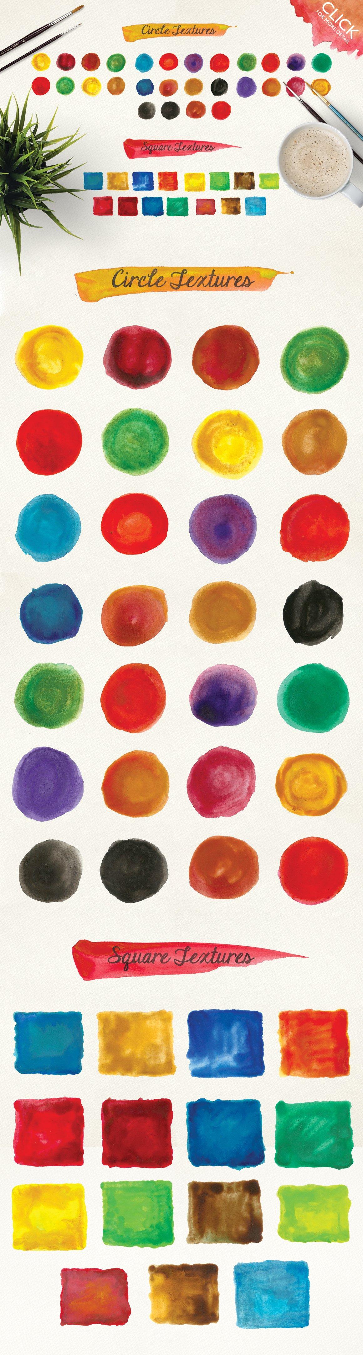500款高清多彩水墨水彩背景纹理图片素材 500 Watercolor Textures Packs插图(1)