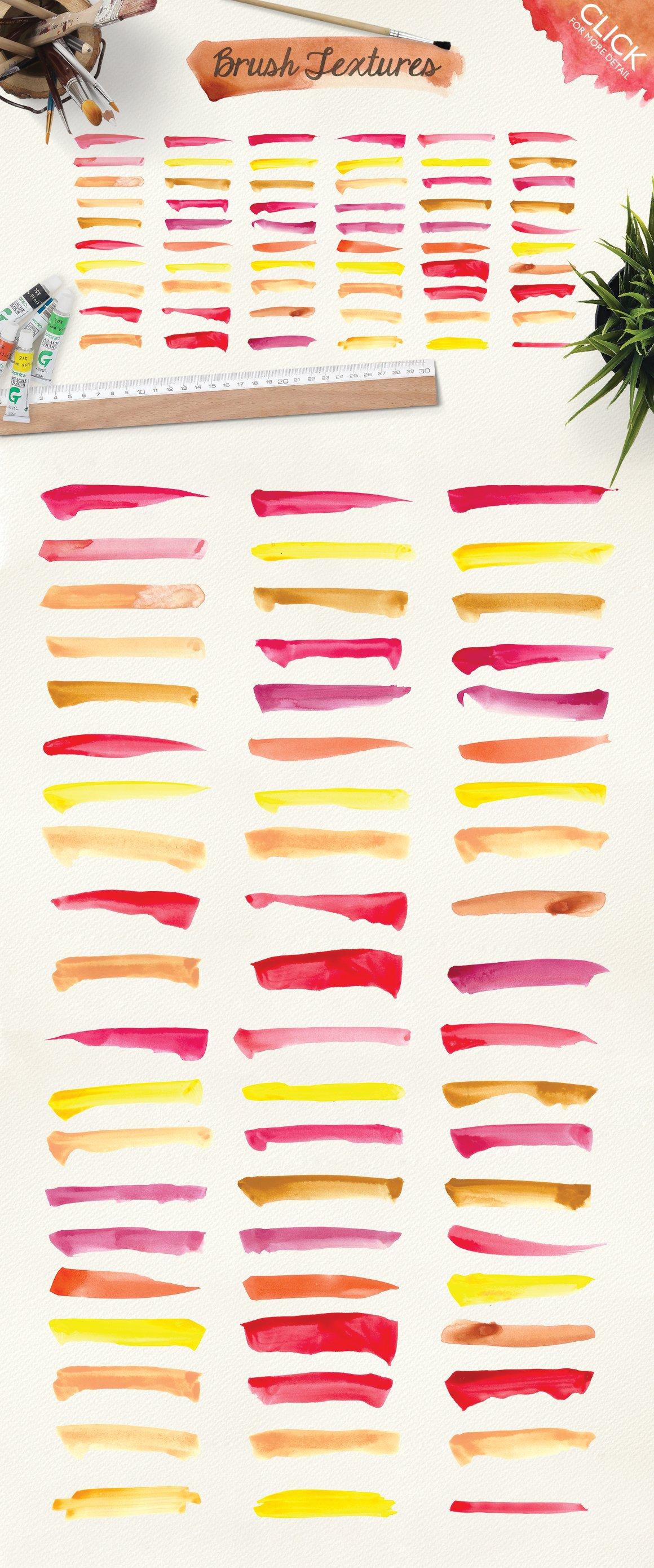 500款高清多彩水墨水彩背景纹理图片素材 500 Watercolor Textures Packs插图(2)